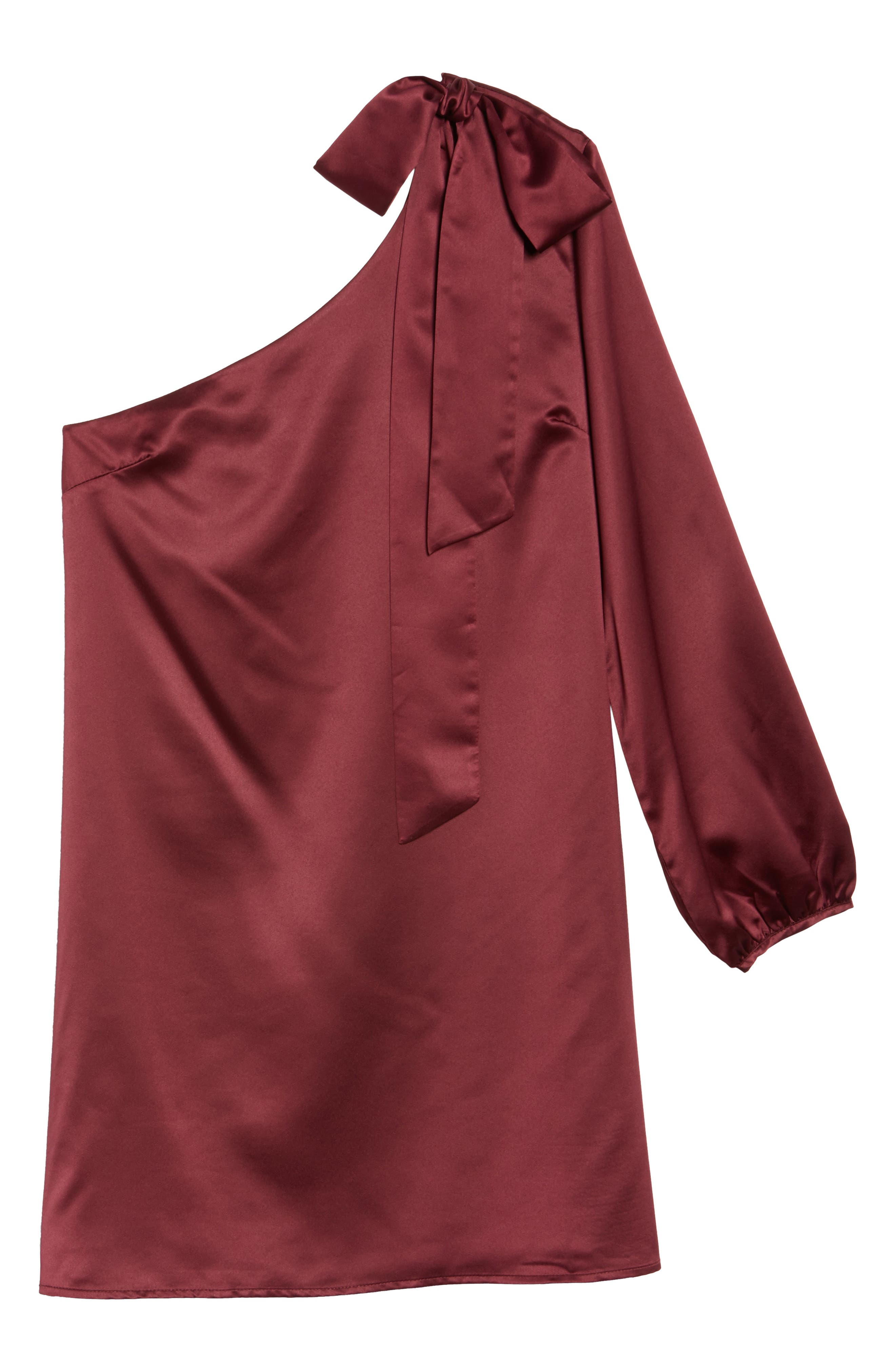 One-Sleeve Shift Dress,                             Alternate thumbnail 12, color,