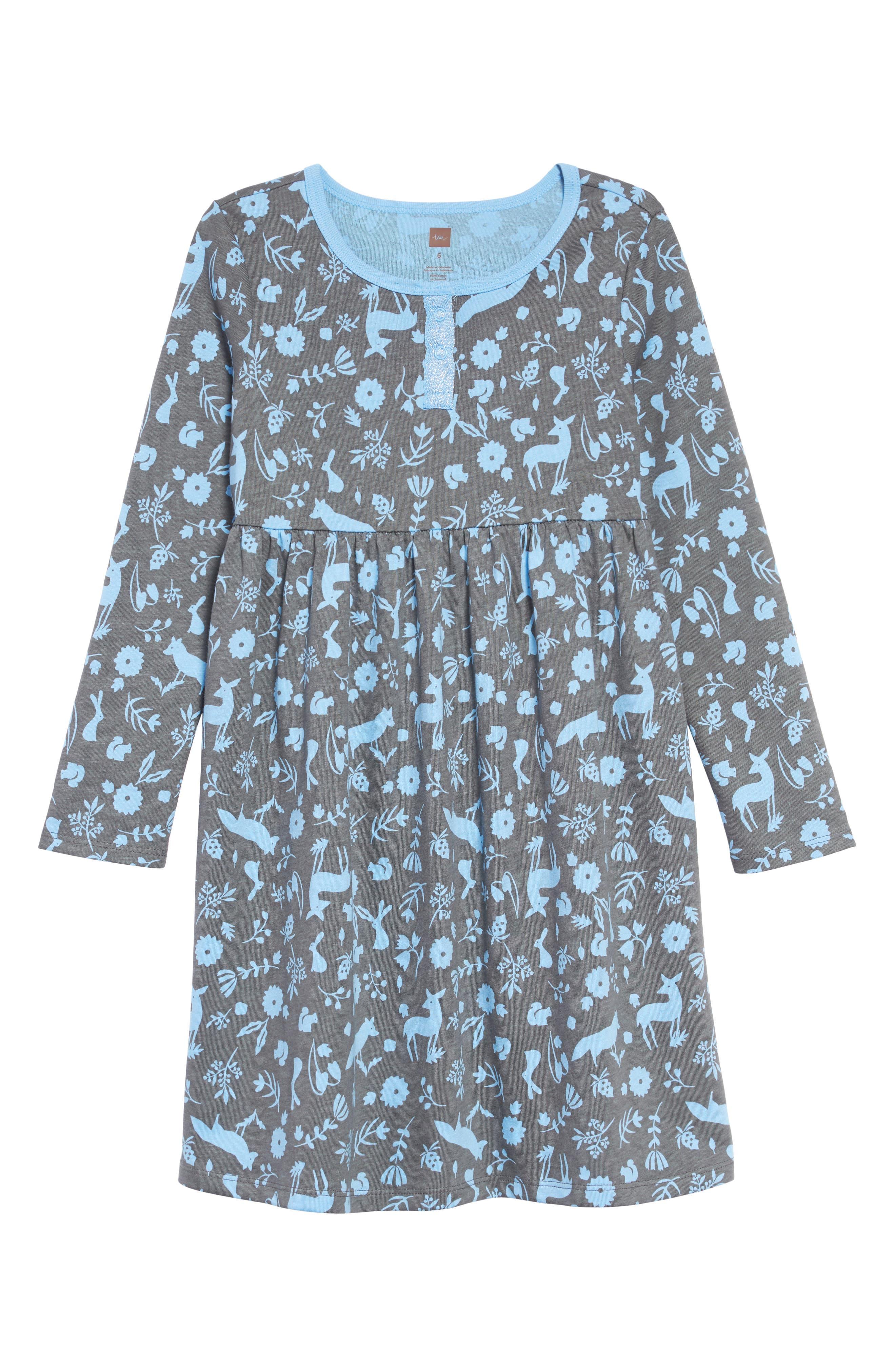 Sparkle Henley Dress,                             Main thumbnail 1, color,                             DESERT FLORA AND FAUNA