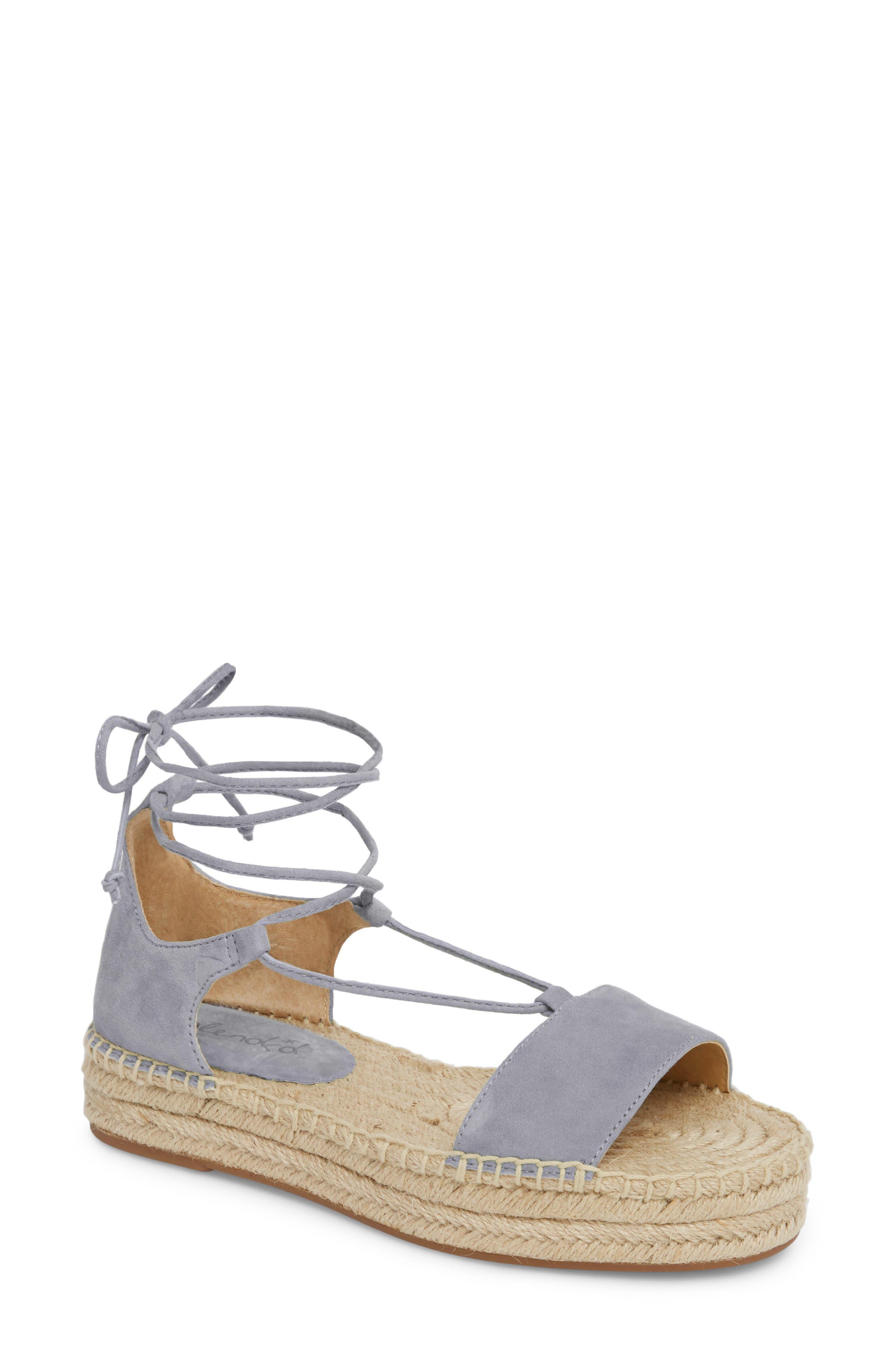 Splendid Fernanda Wraparound Platform Sandal, Grey