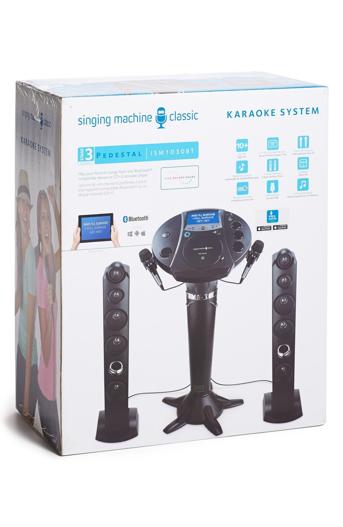 ISM1030BT Stand-Up Bluetooth Karaoke Machine,                             Alternate thumbnail 2, color,                             BLACK