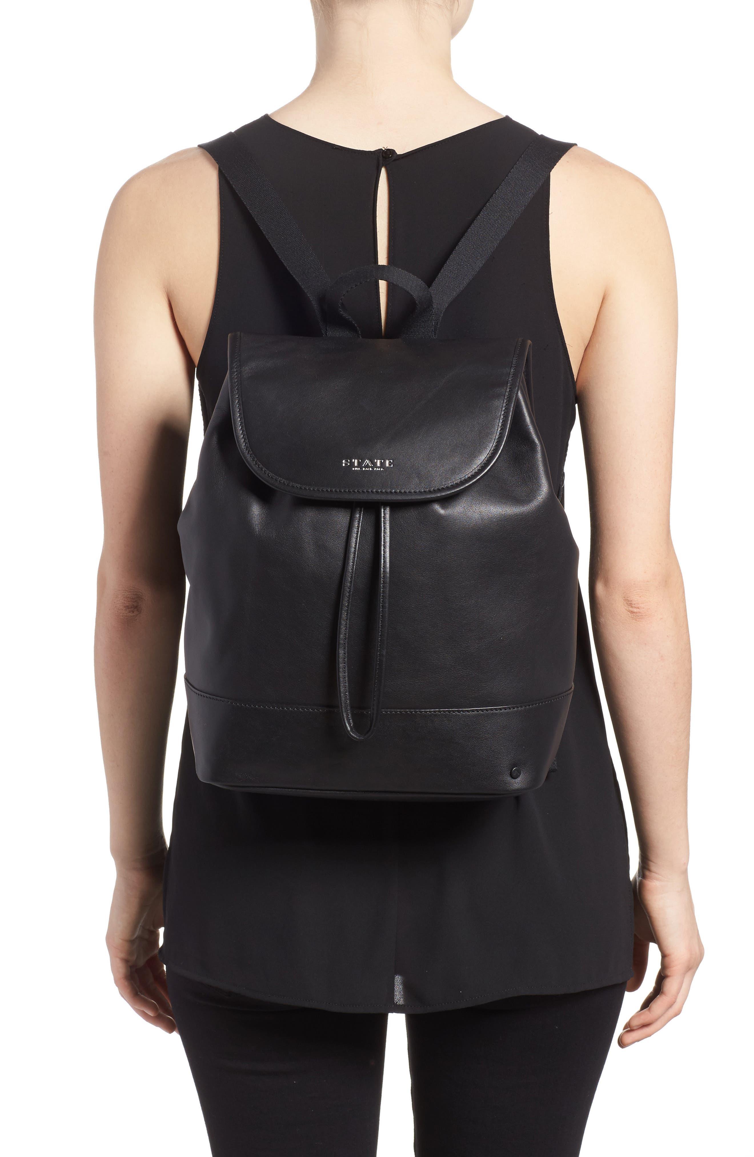 Parkville Hattie Leather Backpack,                             Alternate thumbnail 2, color,                             001