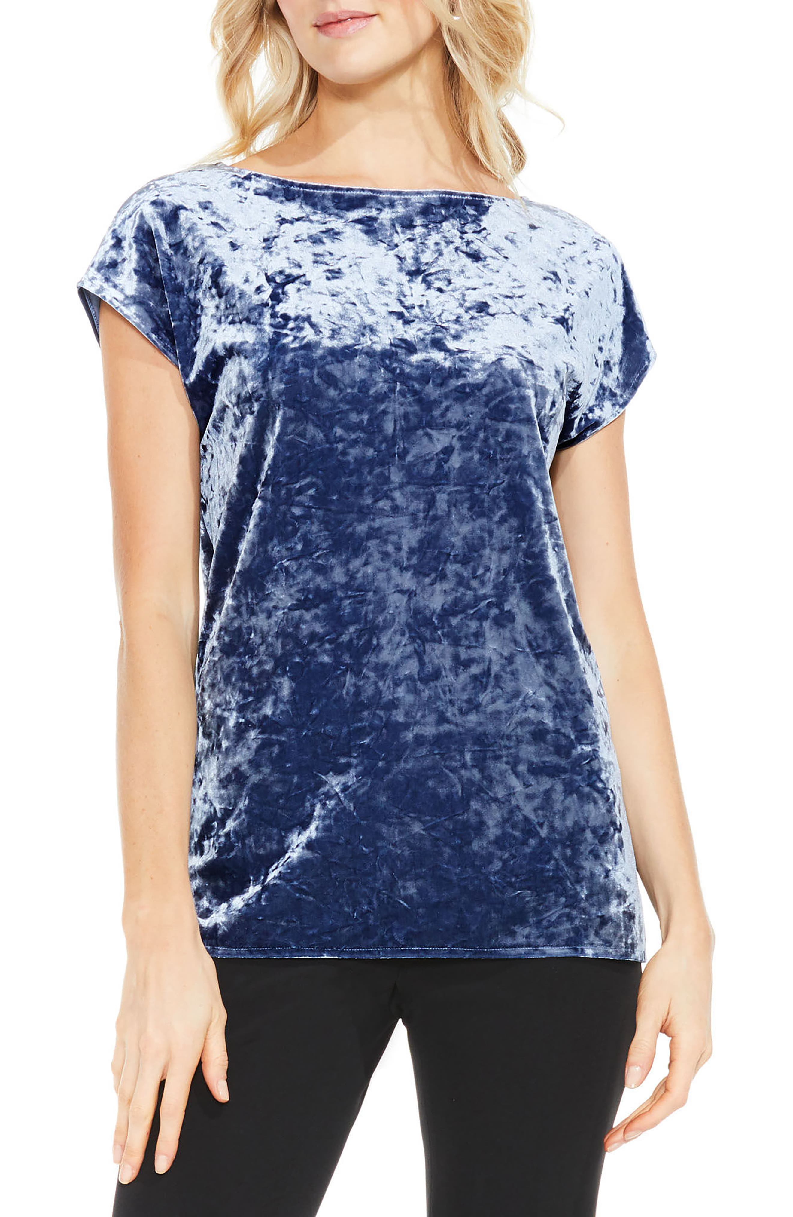Crushed Velvet Knit Tee,                         Main,                         color, 485
