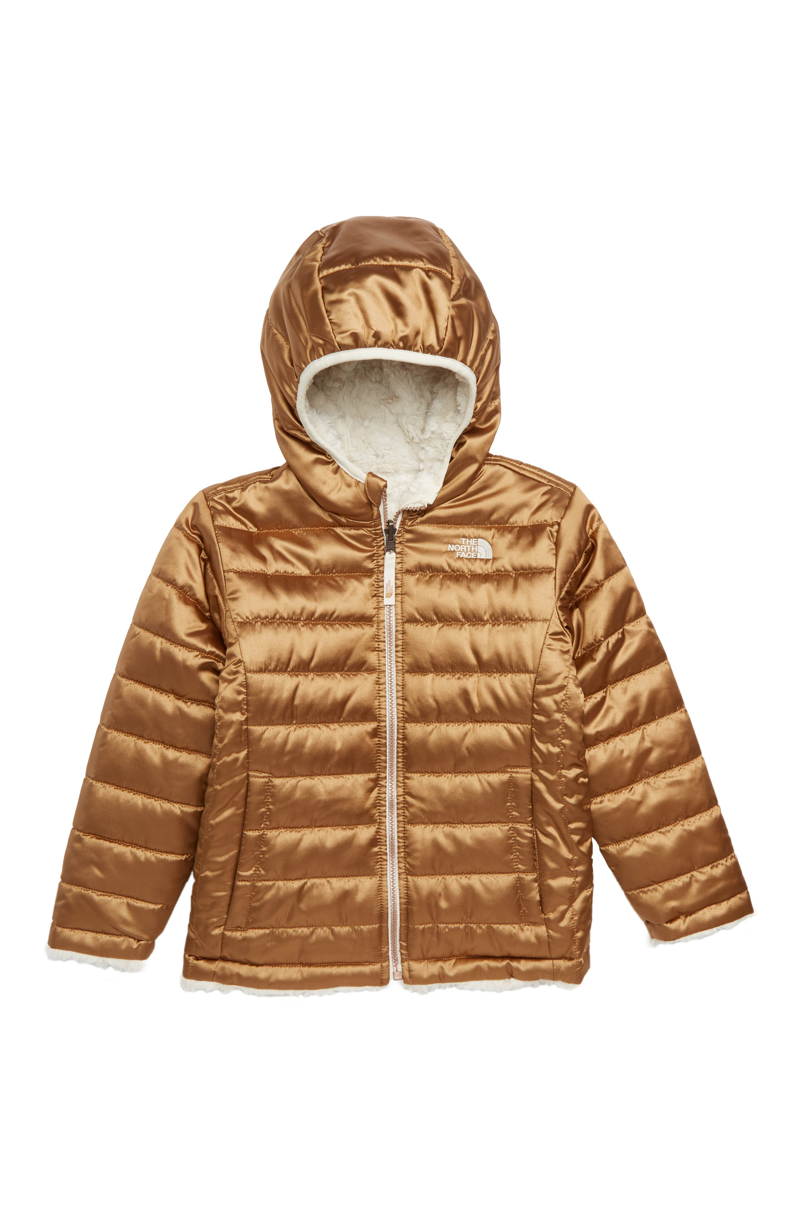 Mossbud Reversible Water Repellent Jacket,                             Main thumbnail 1, color,                             METALLIC COPPER