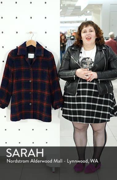 Plaid Wool Blend Jacket, sales video thumbnail