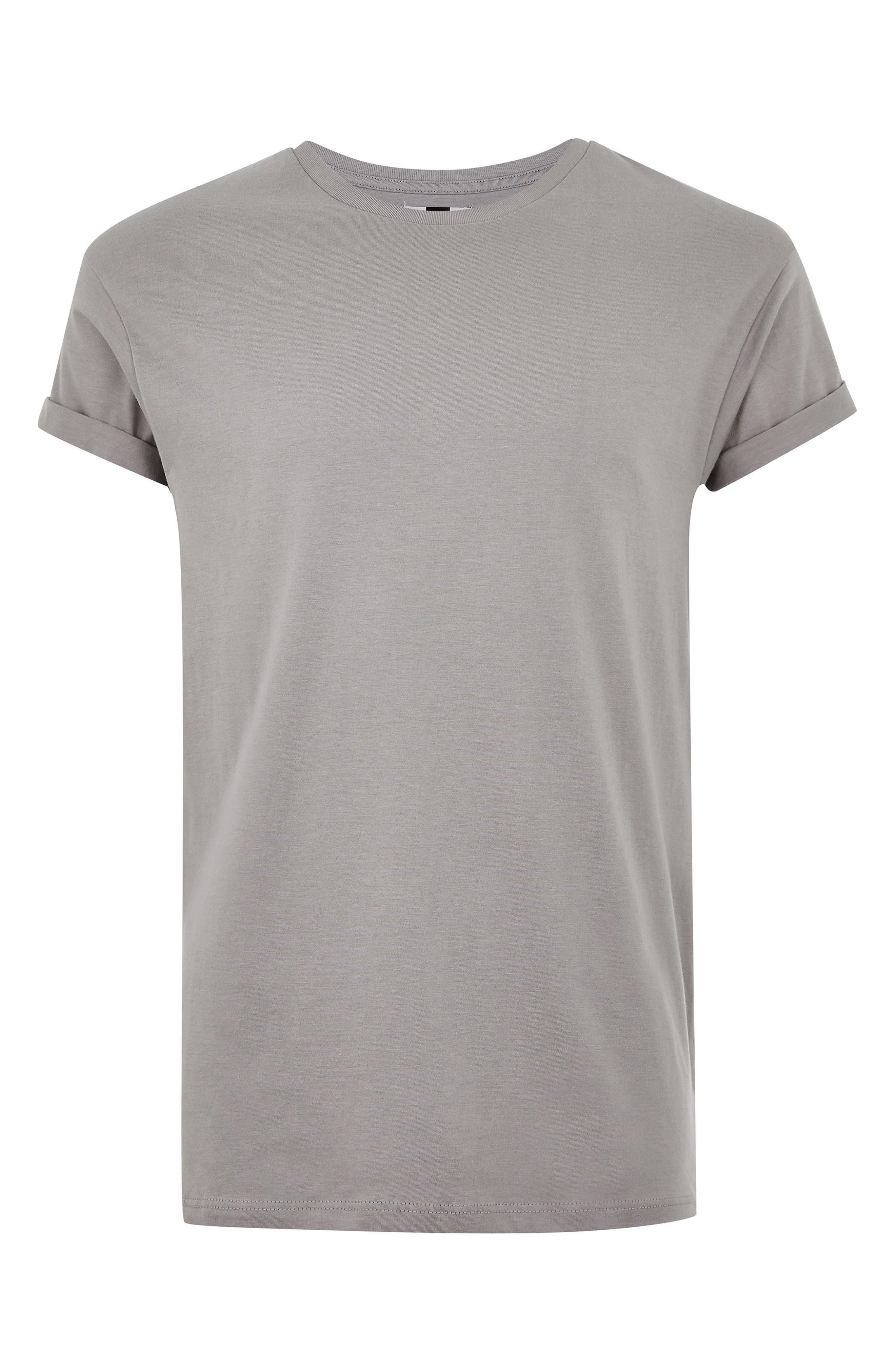 Muscle Fit Roller T-Shirt,                             Alternate thumbnail 5, color,                             CHARCOAL