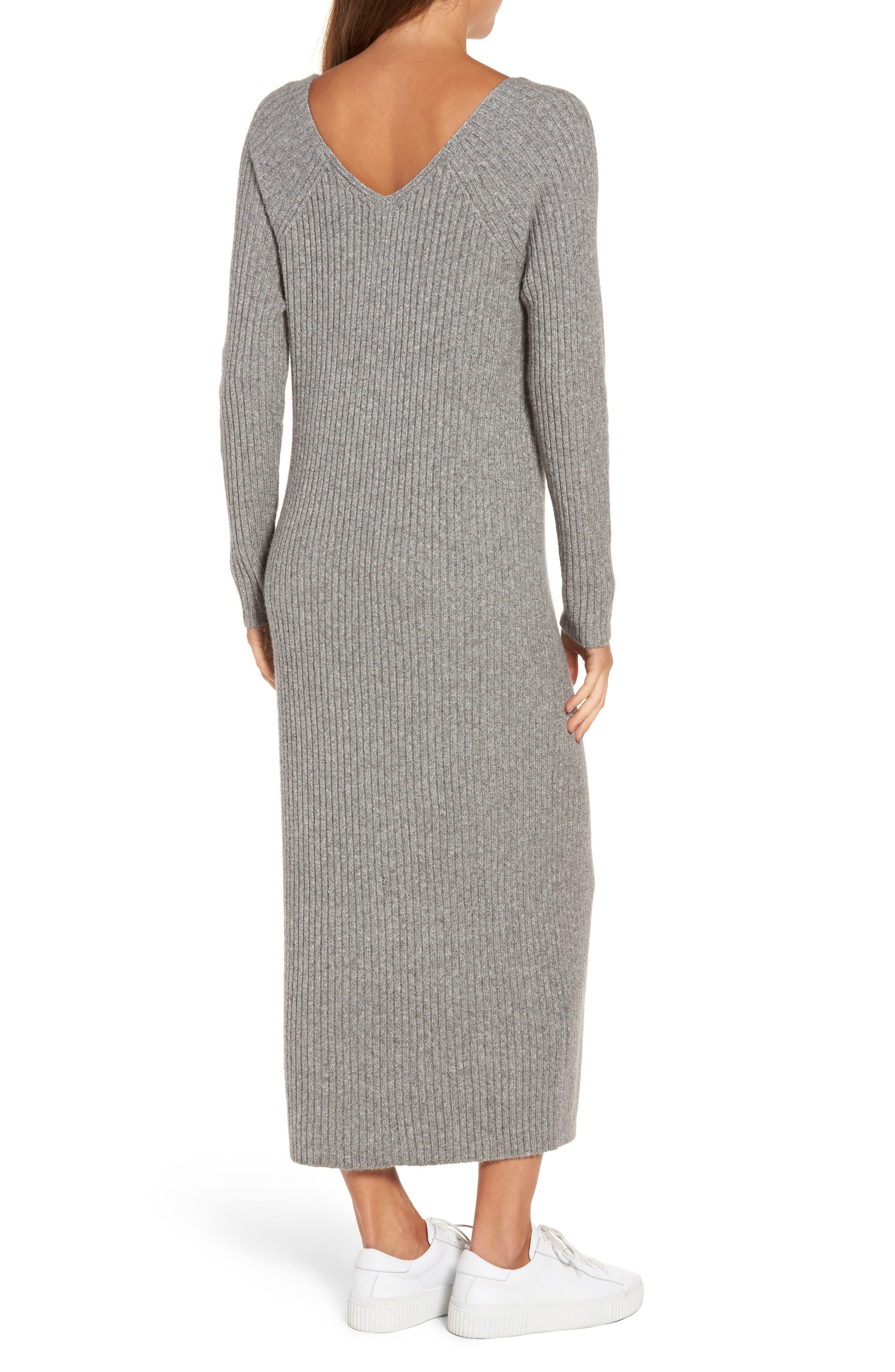 Ribbed Maxi Sweater Dress,                             Alternate thumbnail 2, color,