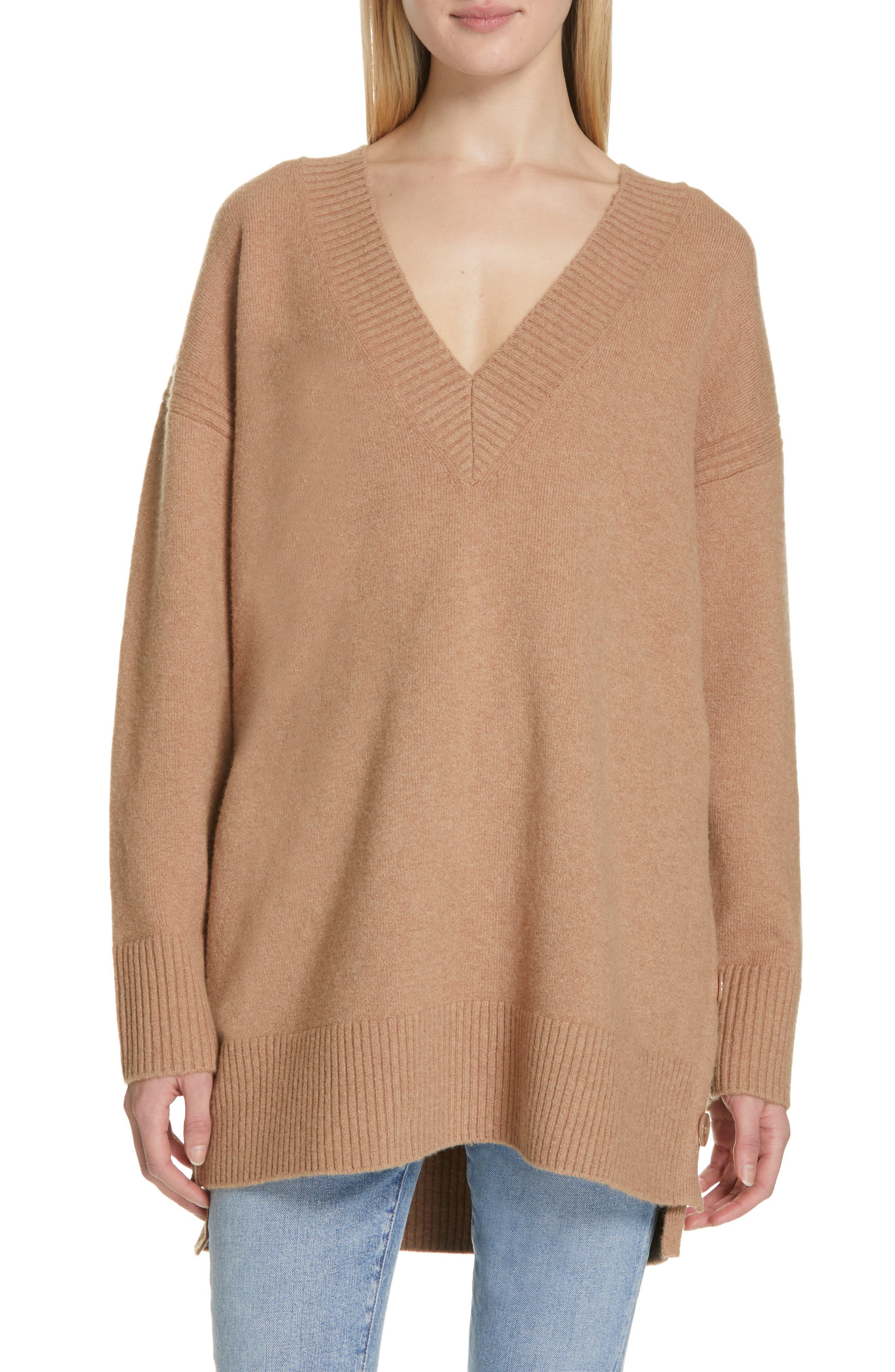 Cortis Merino Wool & Alpaca Blend Sweater,                             Main thumbnail 1, color,                             CAMEL