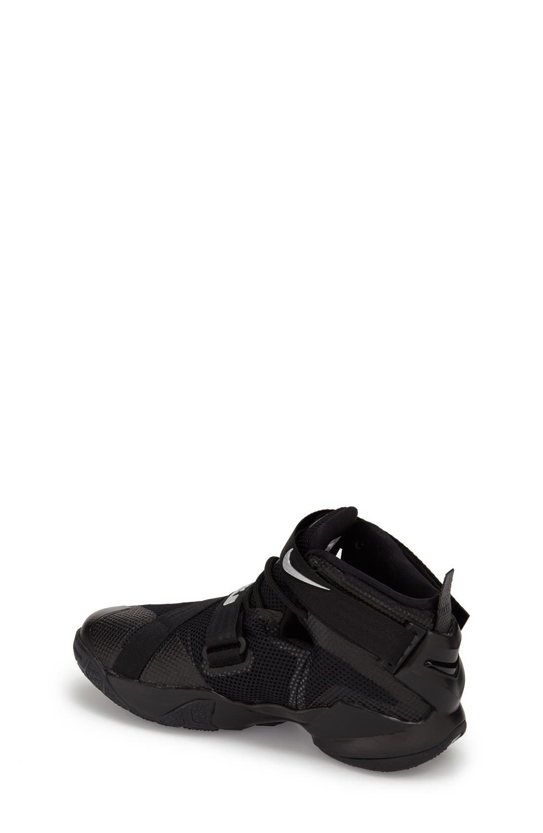 'LeBron Soldier 9' Basketball Shoe,                             Alternate thumbnail 4, color,                             001