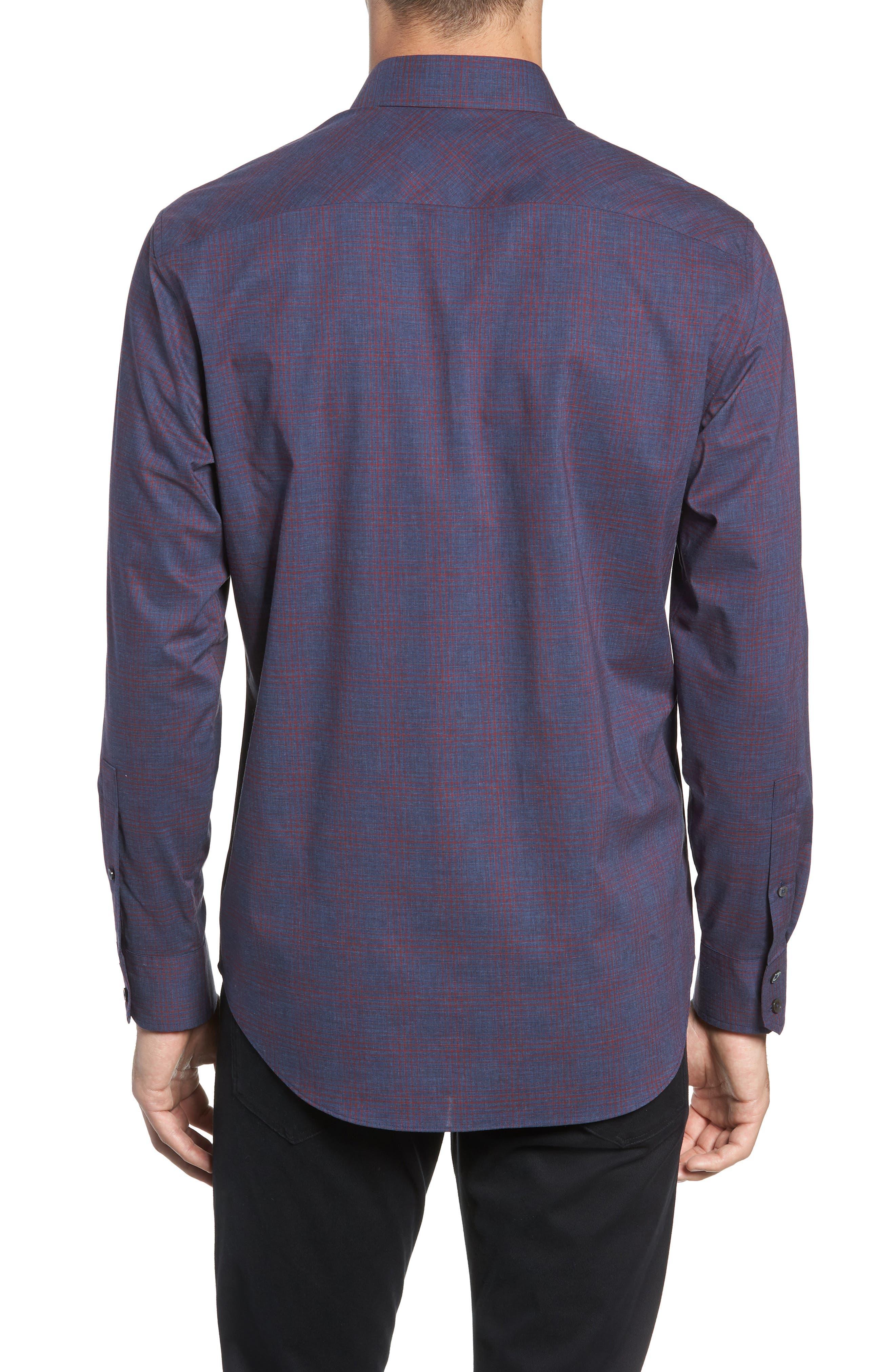 ZACHARY PRELL,                             Maslin Regular Fit Sport Shirt,                             Alternate thumbnail 3, color,                             461