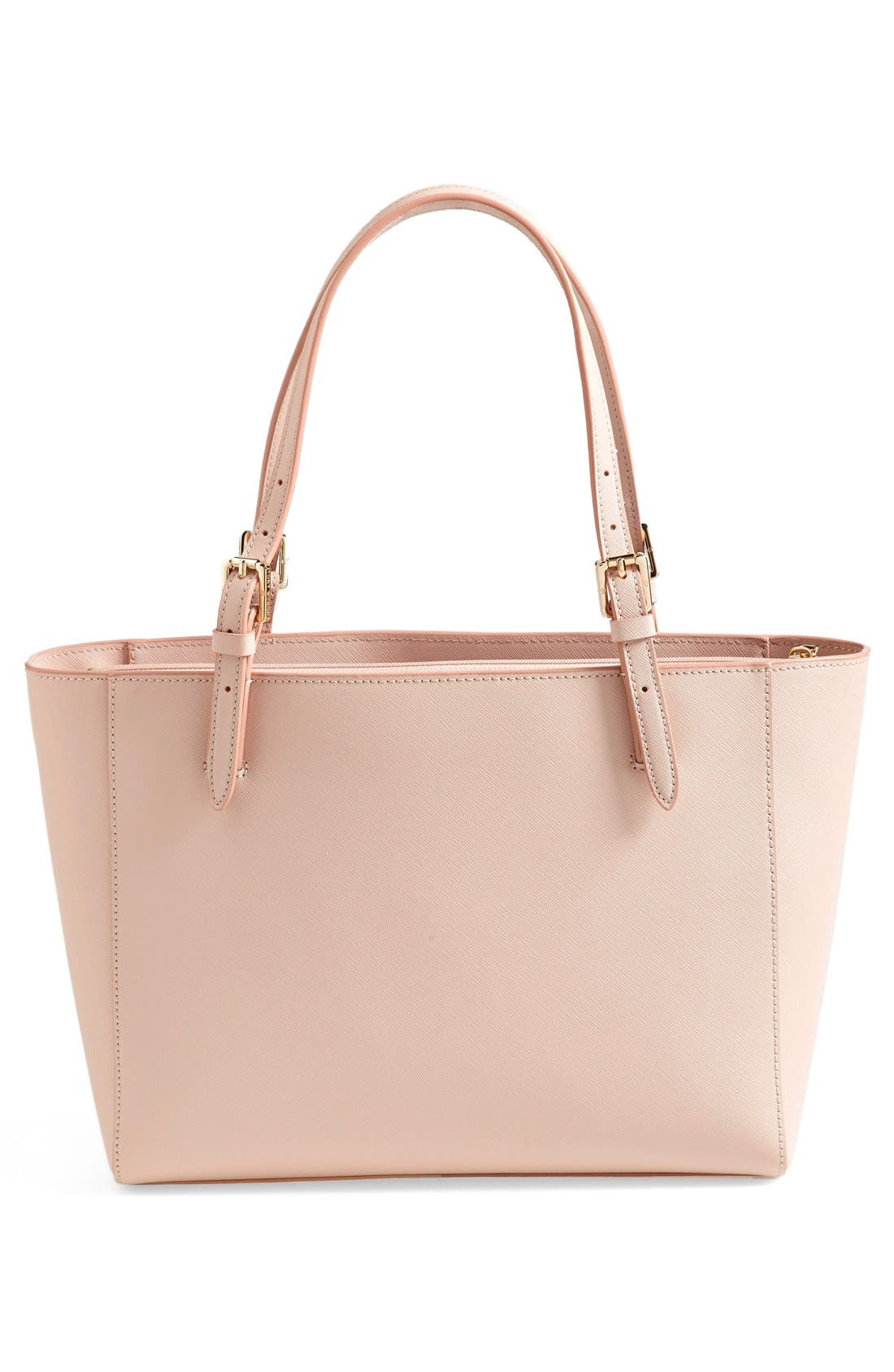 'Small York' Saffiano Leather Buckle Tote,                             Alternate thumbnail 35, color,