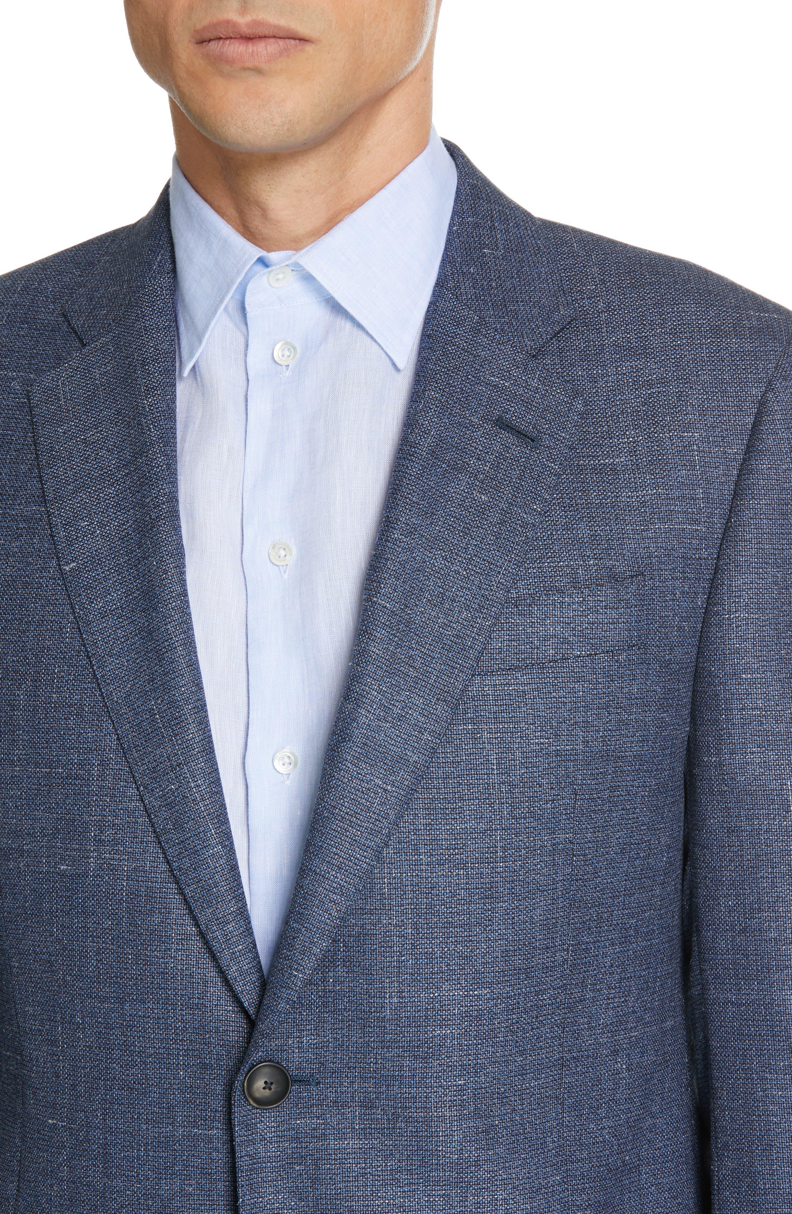 Trim Fit Wool Blend Sport Coat,                             Alternate thumbnail 4, color,                             FANCY BLUE