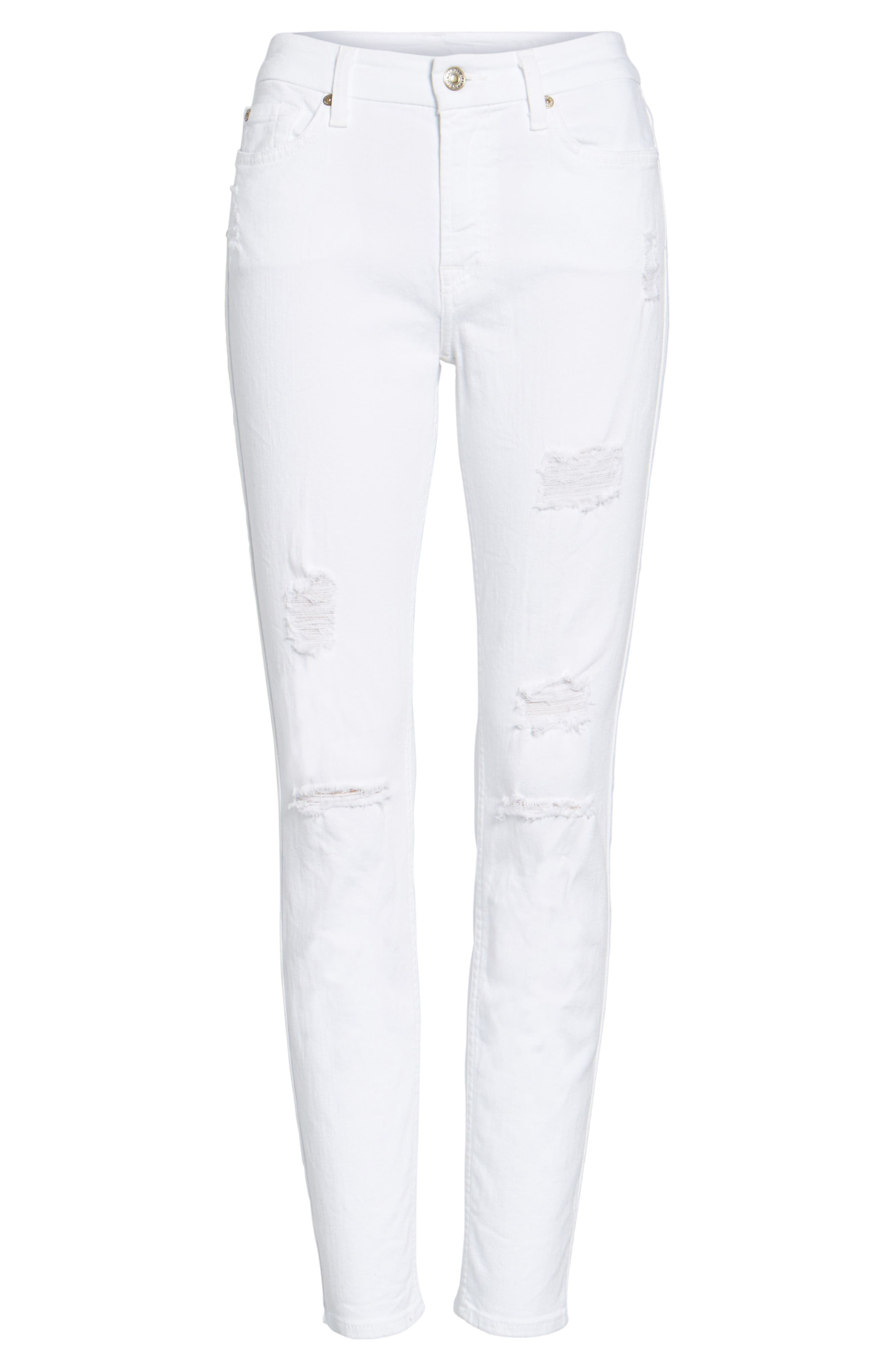 Destroyed Ankle Skinny Jeans,                         Main,                         color, 101