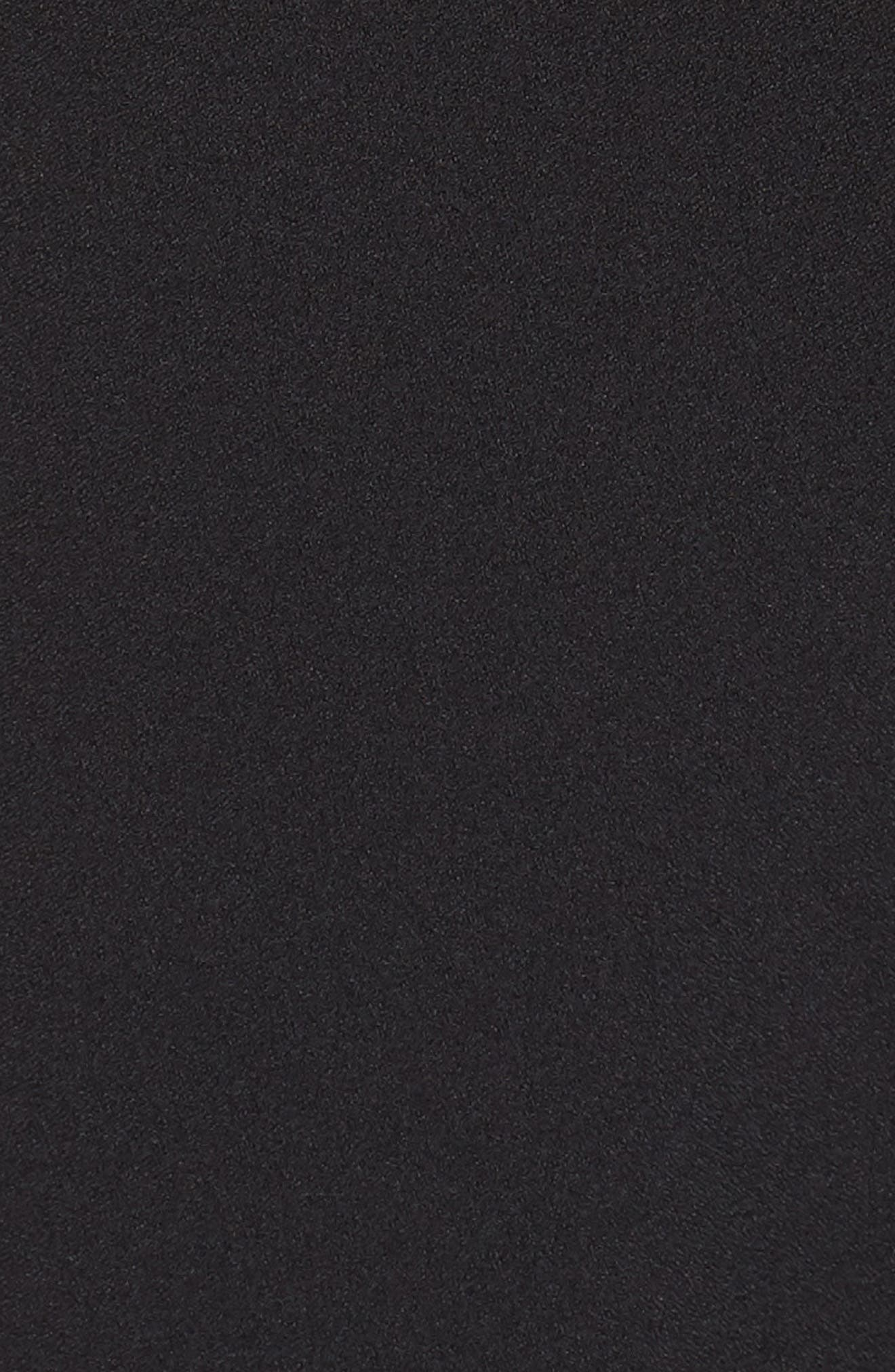 Cold Shoulder V-Neck Jumpsuit,                             Alternate thumbnail 6, color,                             BLACK