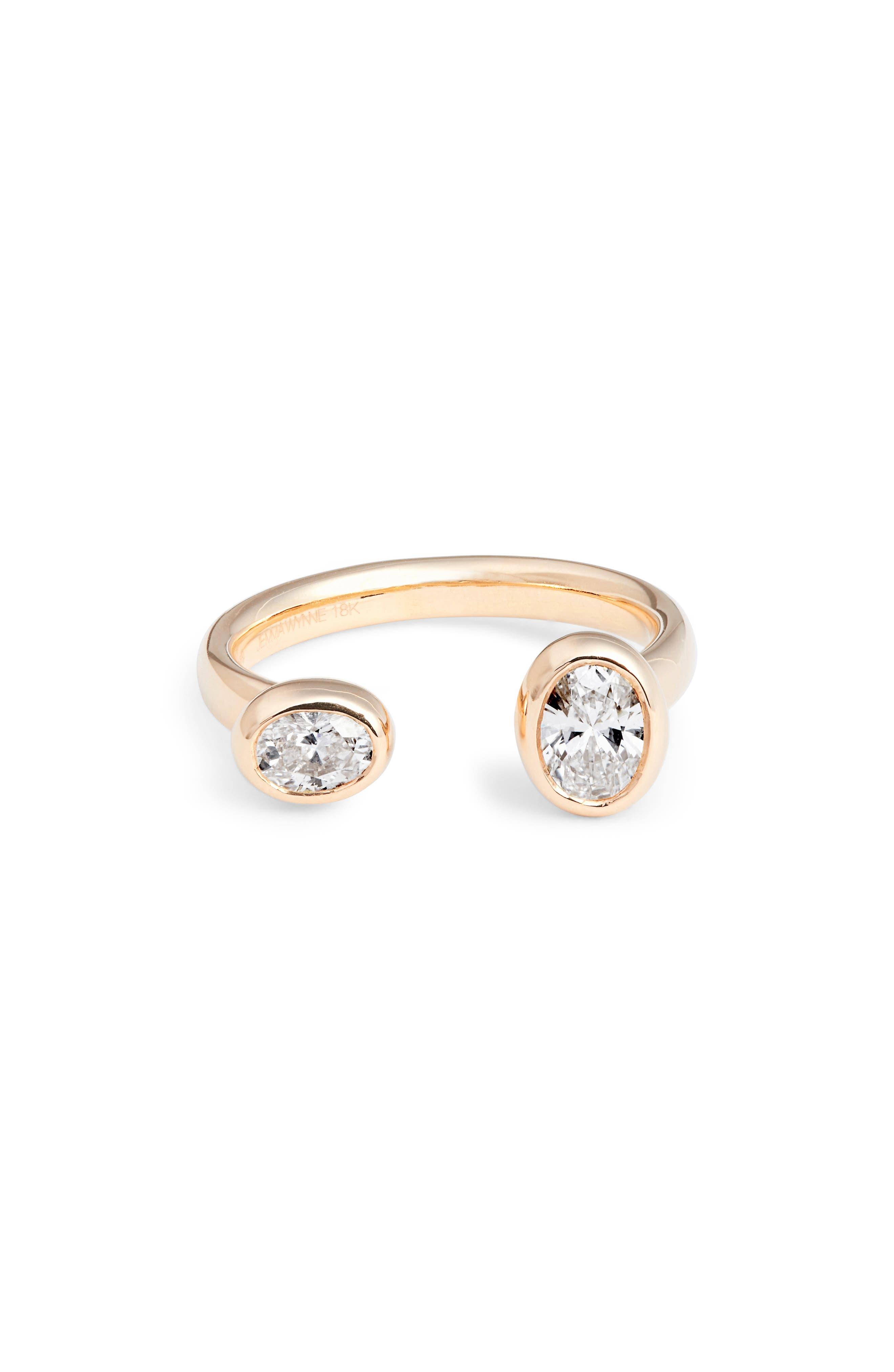 Prive Diamond Open Ring,                             Main thumbnail 1, color,                             710