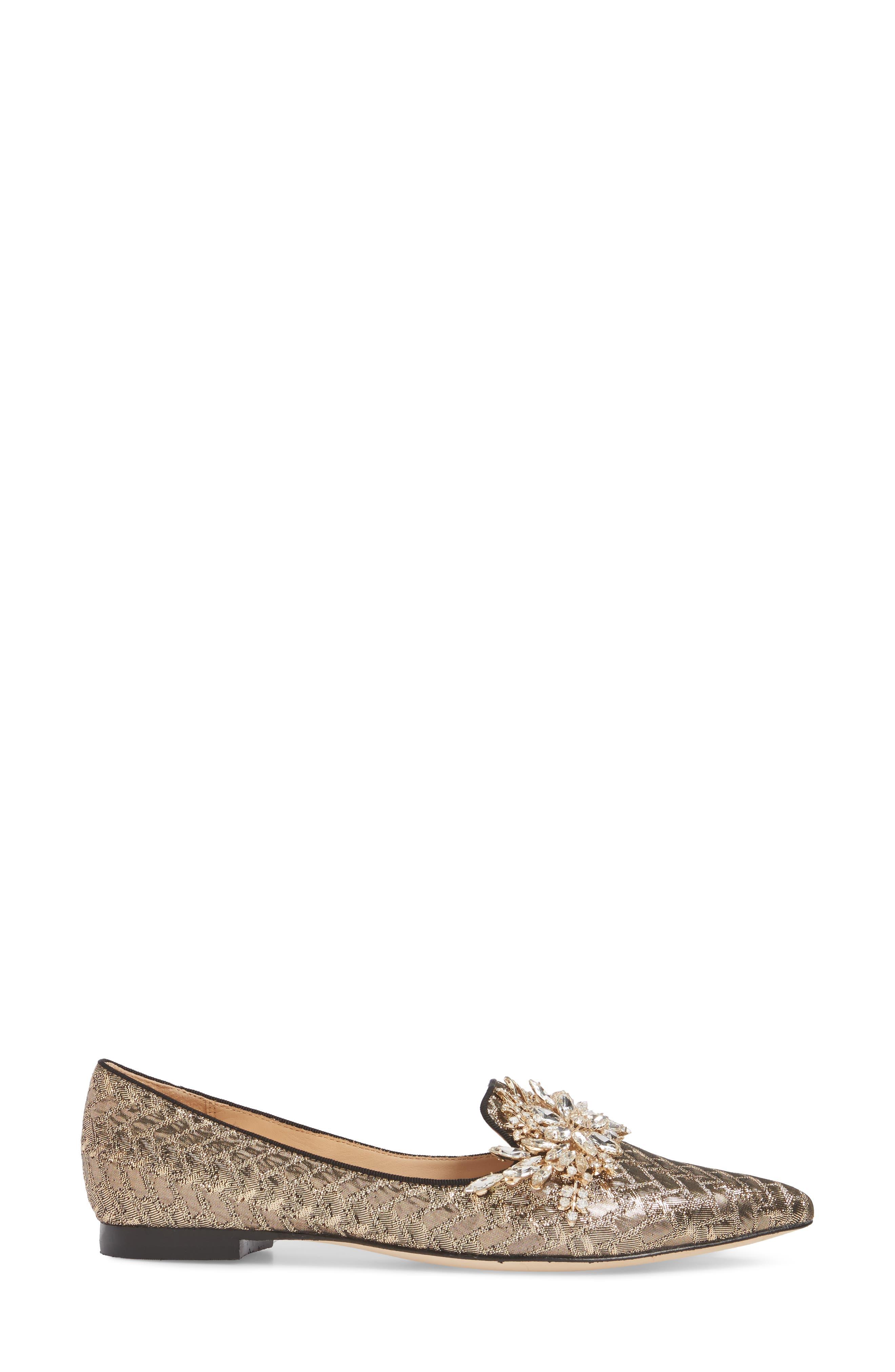 Mandy Embellished Loafer Flat,                             Alternate thumbnail 6, color,