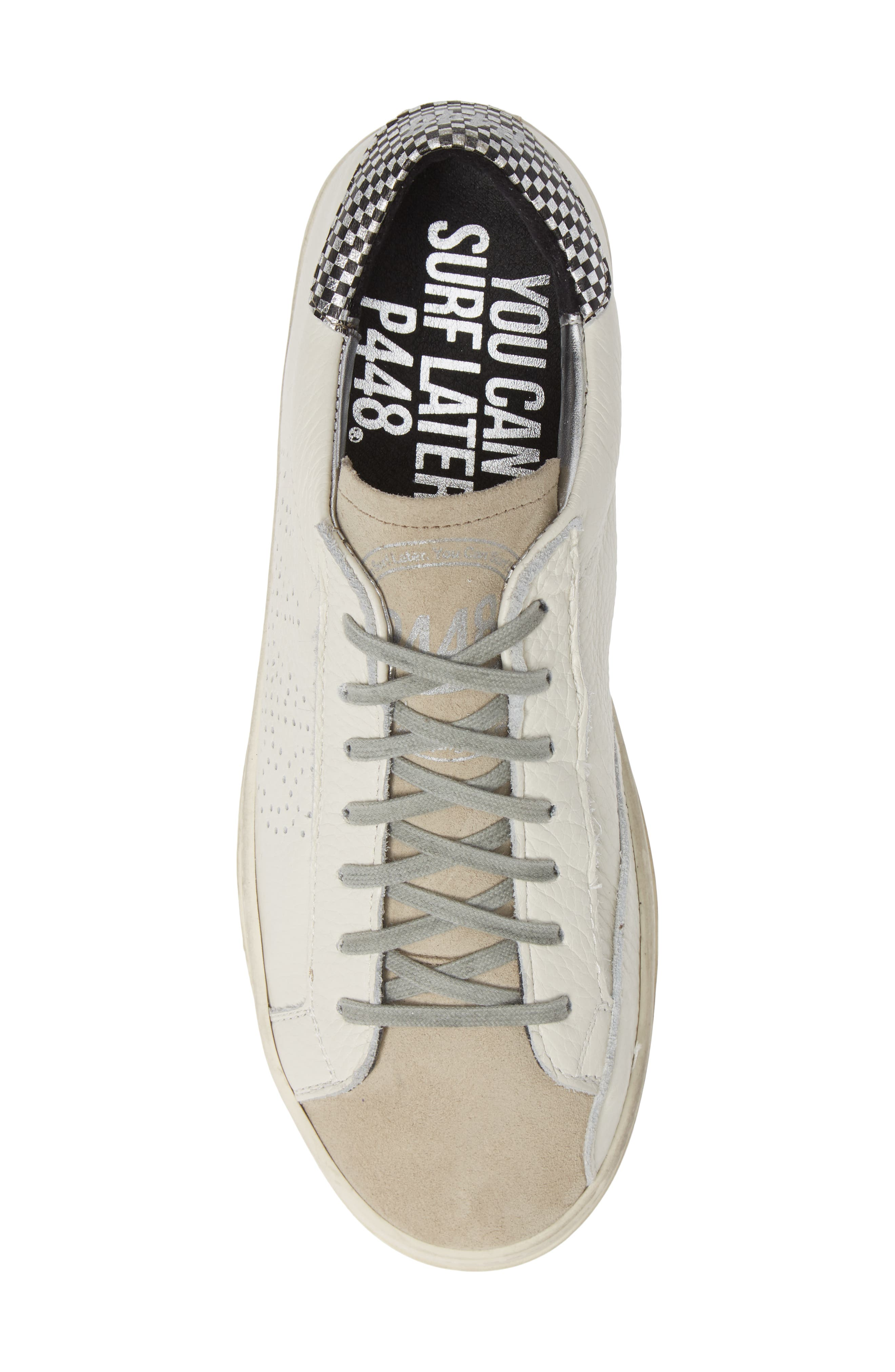 A8John Perforated Sneaker,                             Alternate thumbnail 5, color,                             WHITE/ WHITE