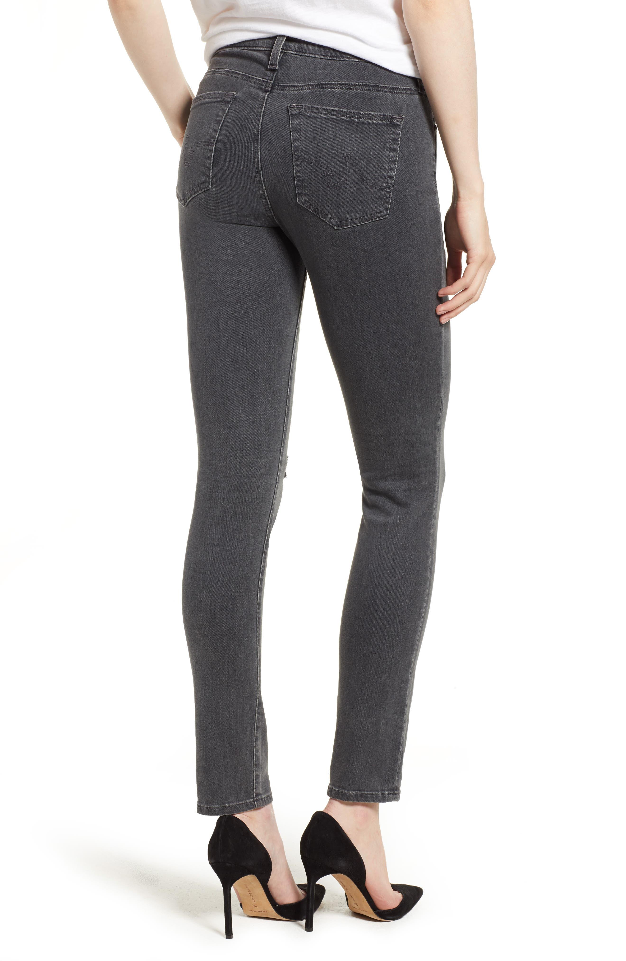 'The Legging' Ankle Super Skinny Jeans,                             Alternate thumbnail 7, color,