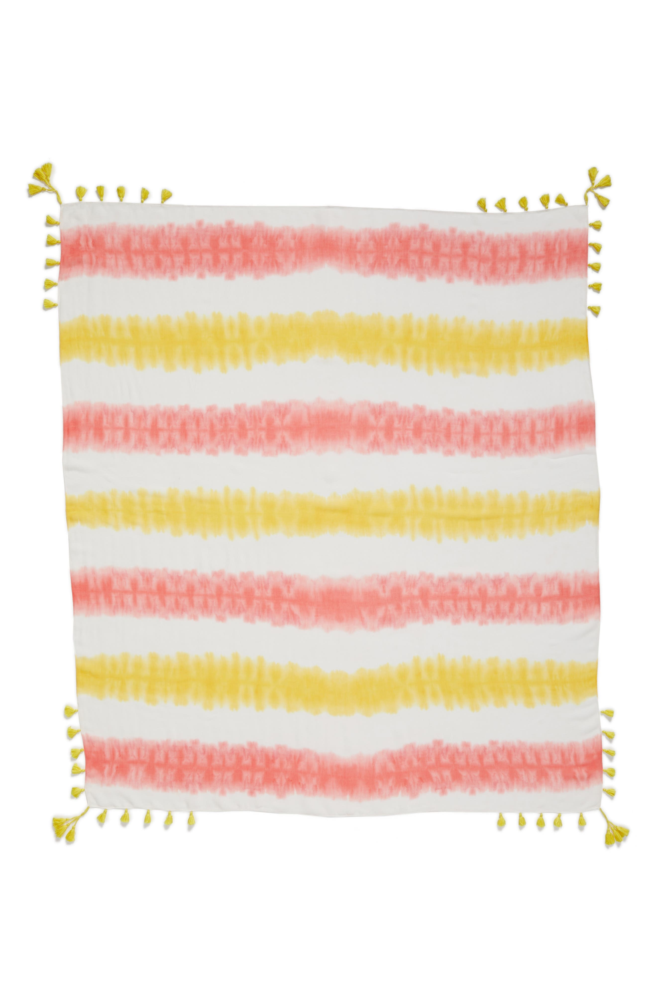Tie Dye Square Scarf,                             Alternate thumbnail 4, color,