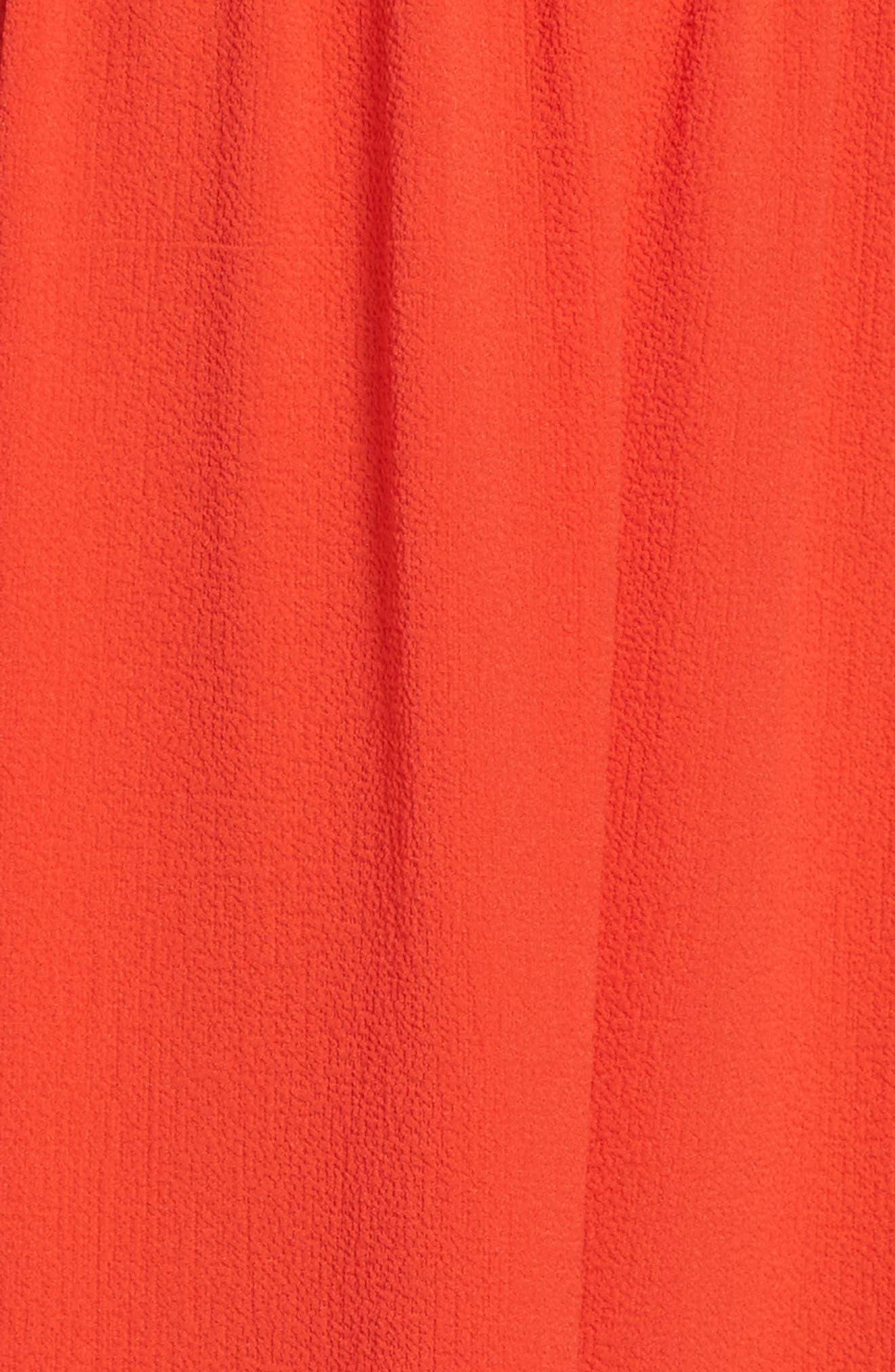 Off the Shoulder Crepe Dress,                             Alternate thumbnail 5, color,                             952
