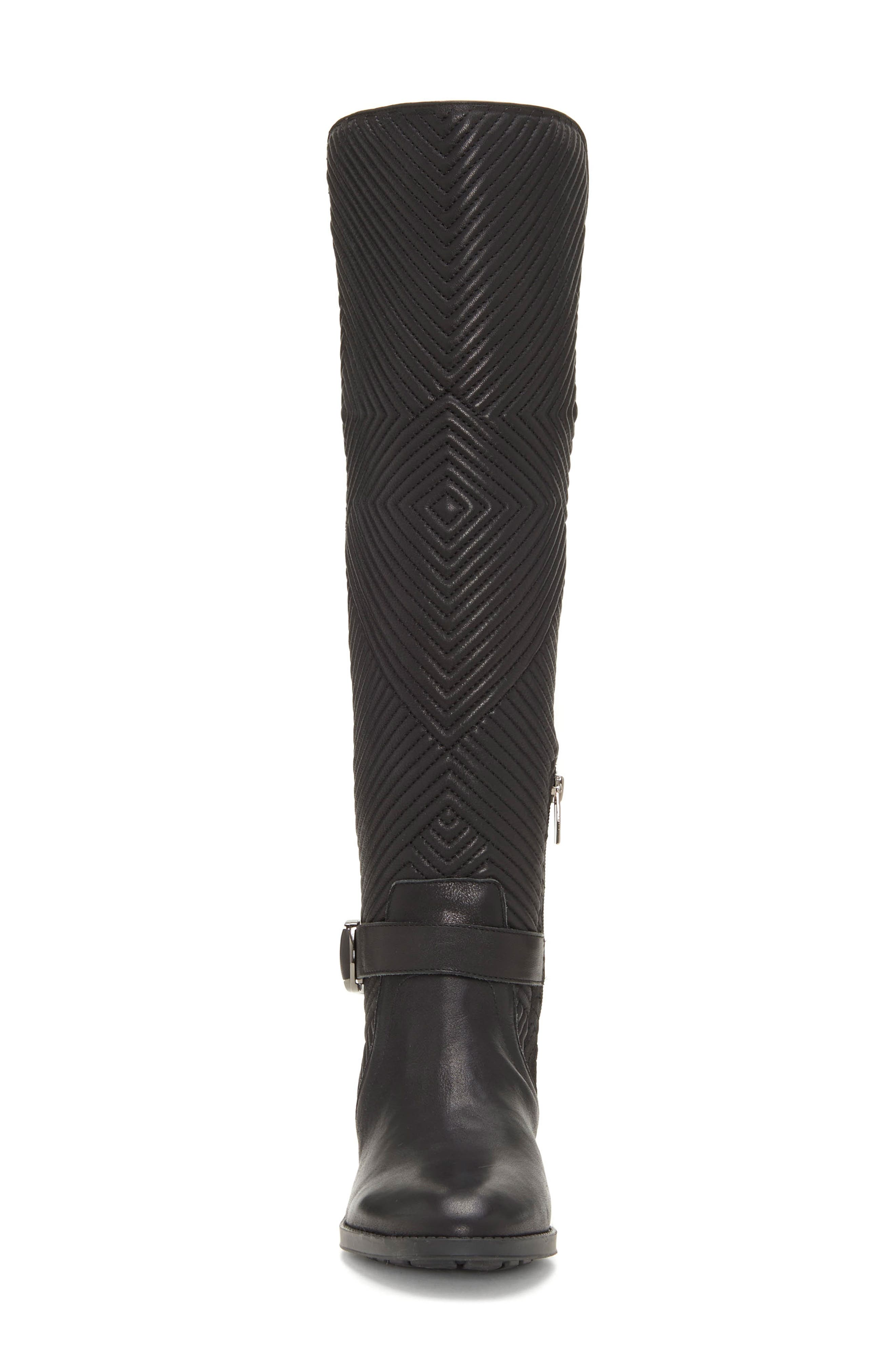 Pordalia Over-the-Knee Boot,                             Alternate thumbnail 4, color,                             BLACK LEATHER