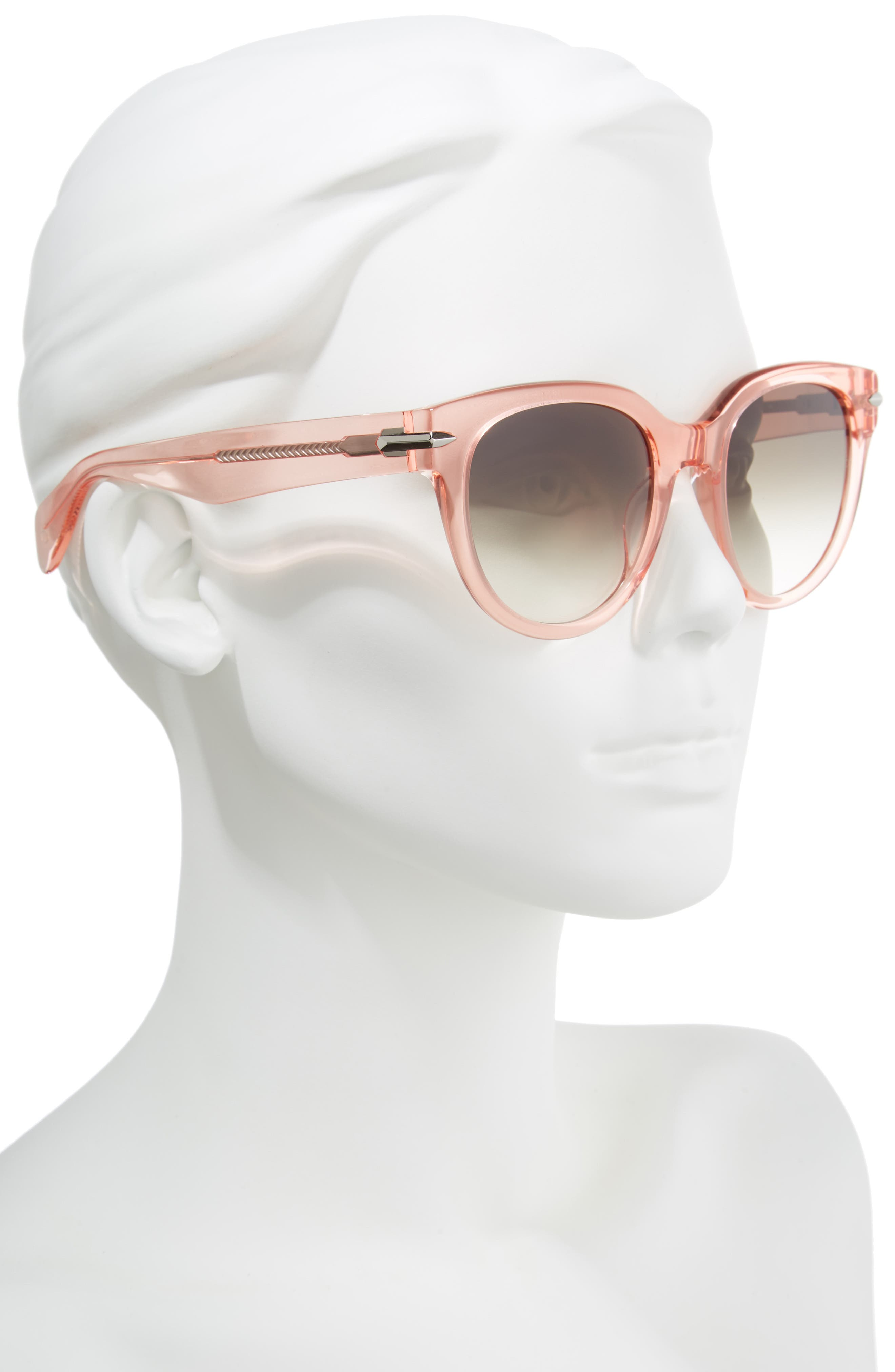 54mm Cat Eye Sunglasses,                             Alternate thumbnail 2, color,                             PINK