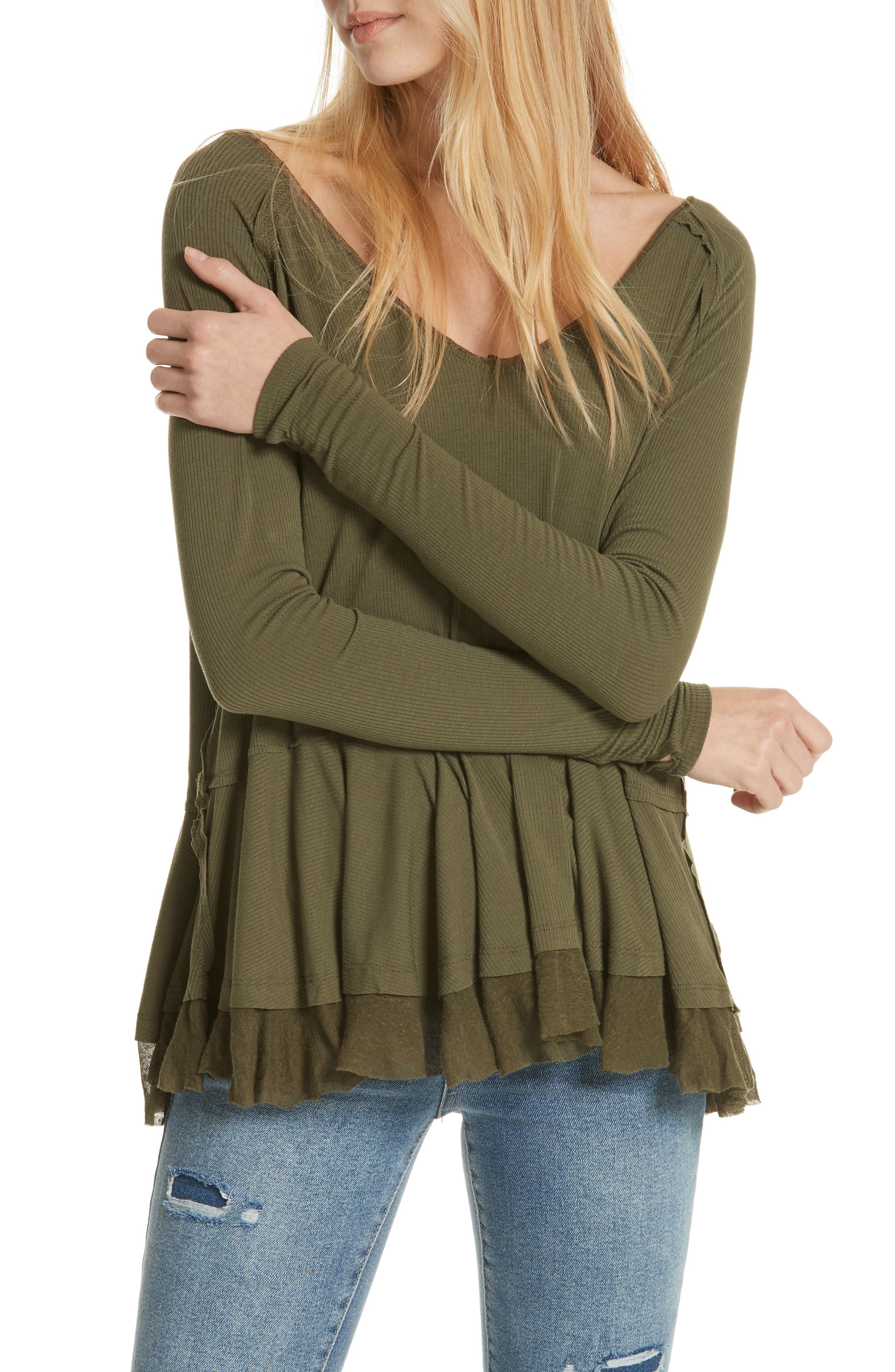 We The Free By Free People Tangerine Tee, Green