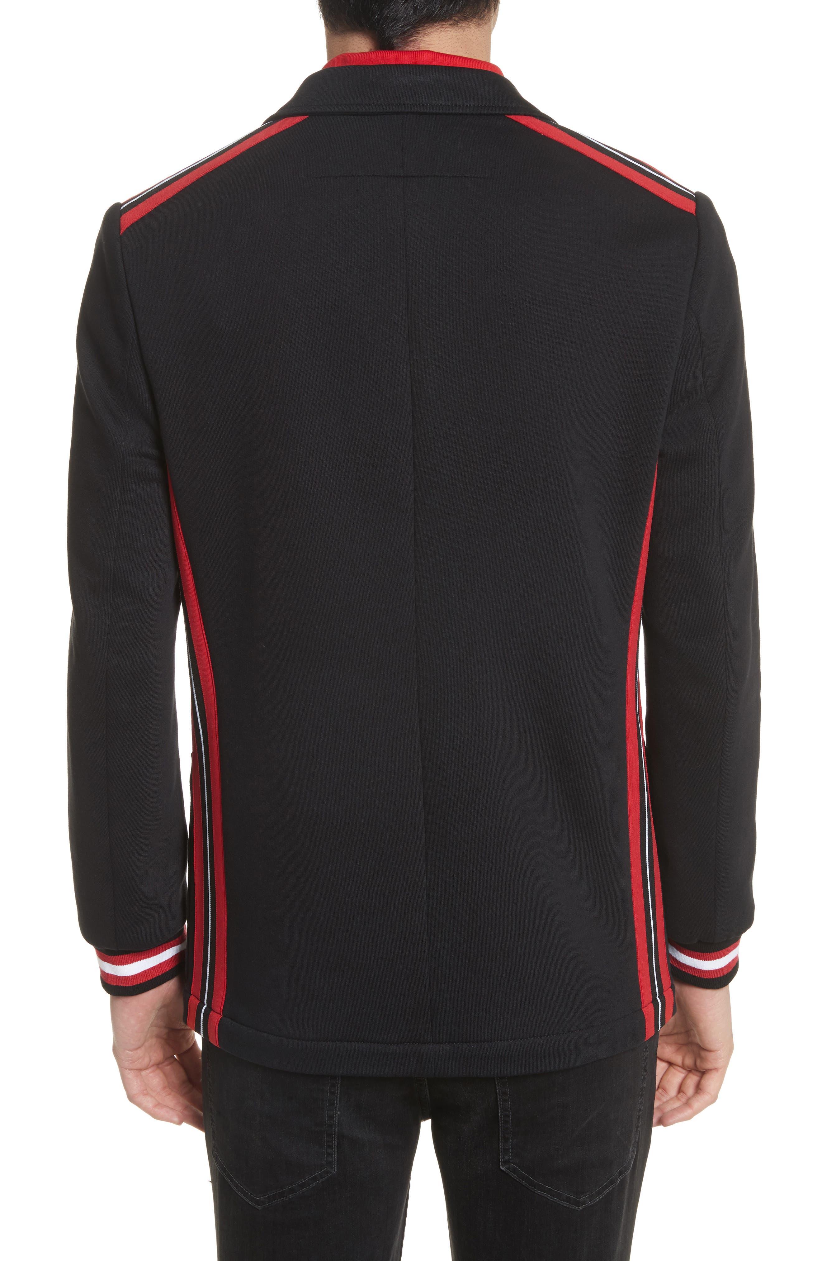 Stripe Trim Jersey Sport Coat,                             Alternate thumbnail 2, color,                             001
