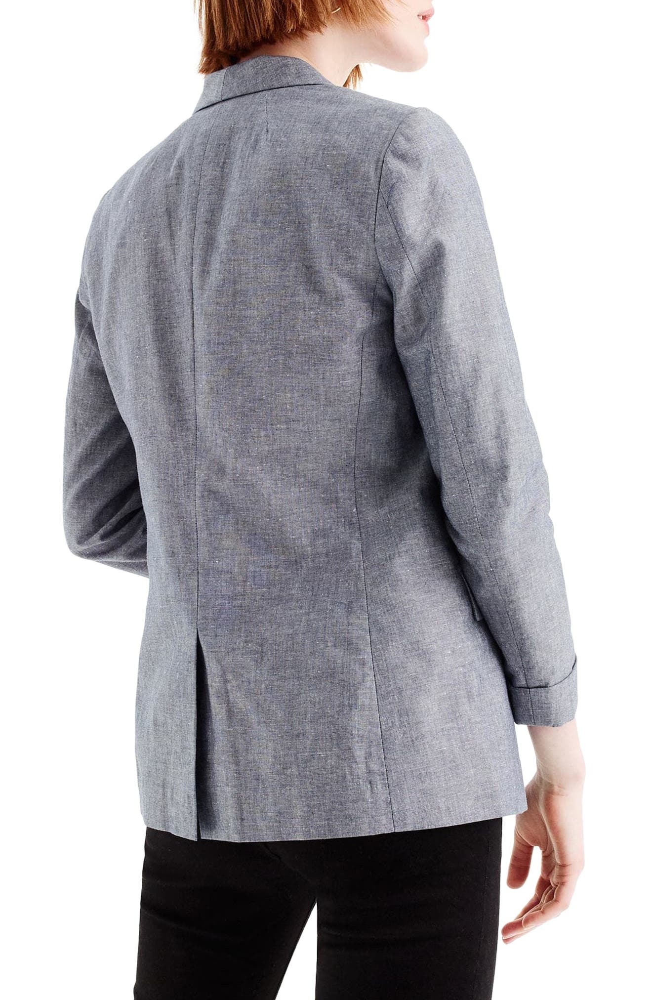 Unstructured Shawl Collar Cotton Linen Blazer,                             Alternate thumbnail 5, color,