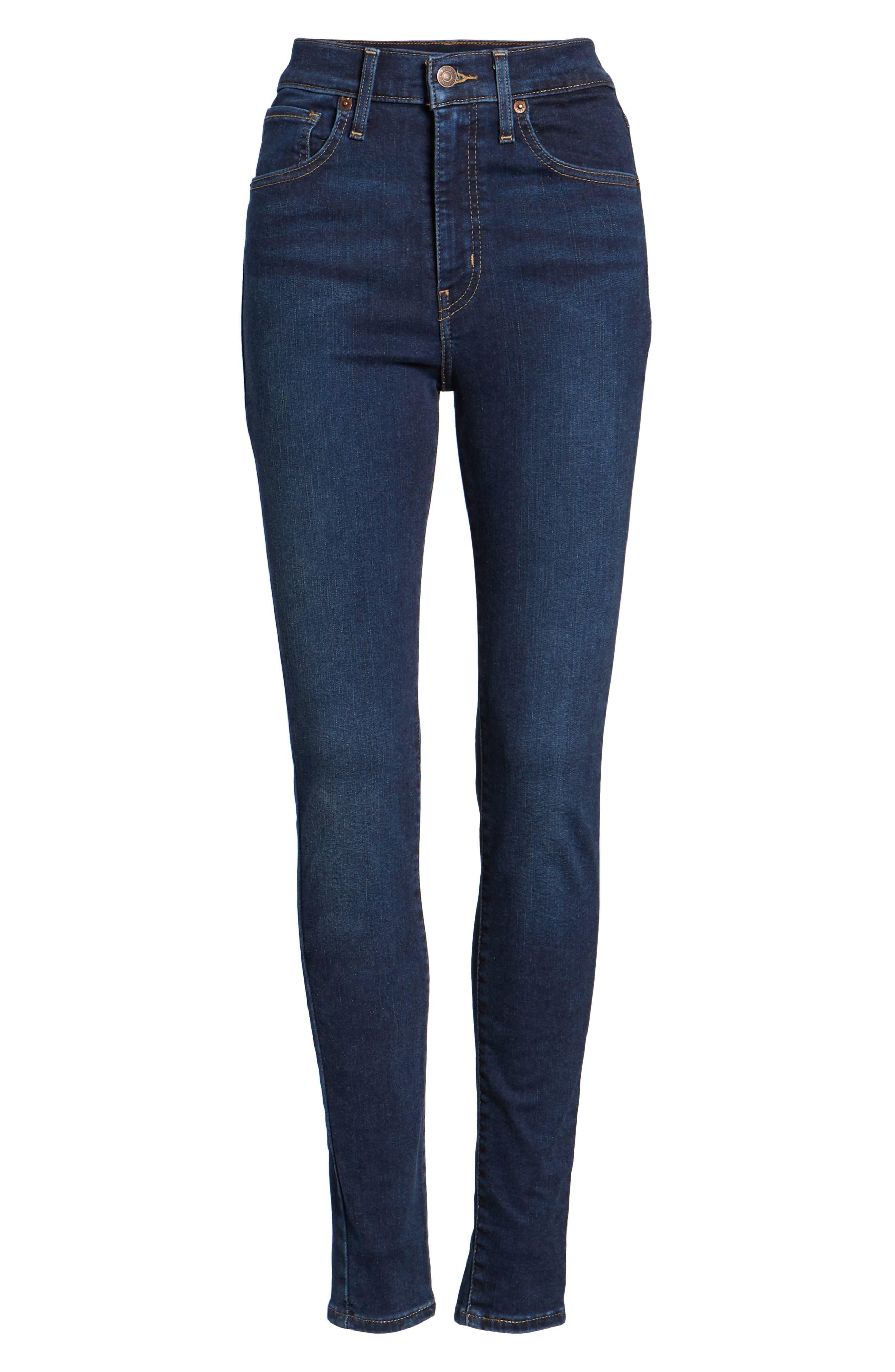 Mile High Super Skinny Jeans,                             Alternate thumbnail 7, color,                             JET SETTER