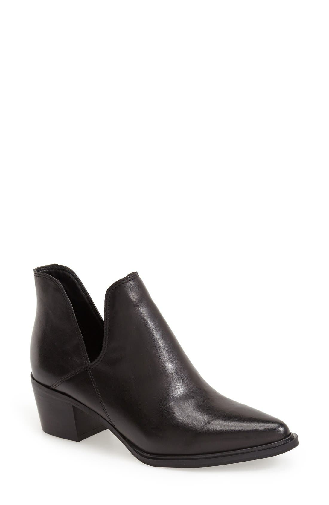 'Dextir' Pointy Toe Ankle Bootie,                         Main,                         color, 001