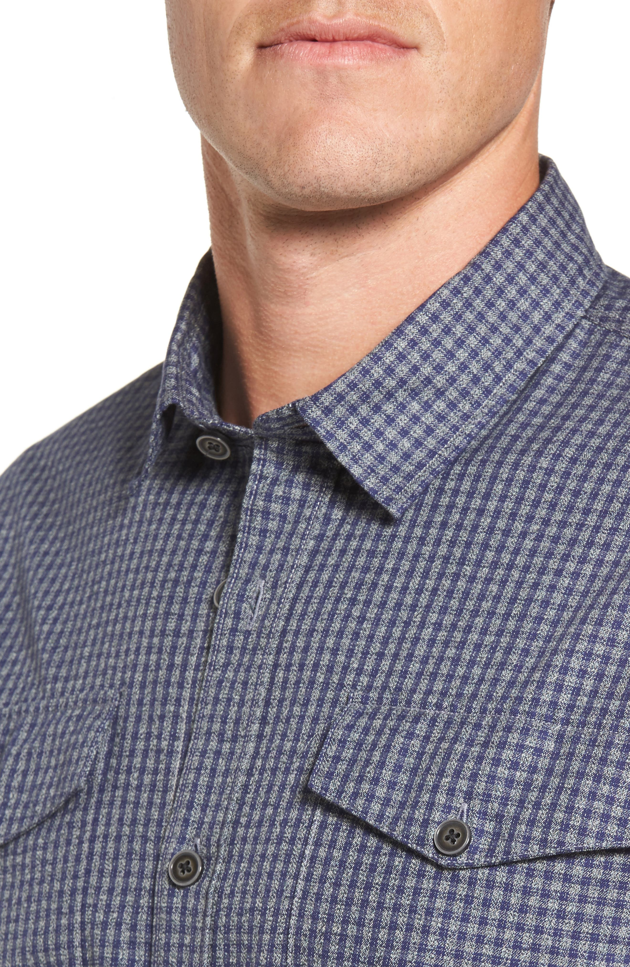 Main Street Check Flannel Shirt,                             Alternate thumbnail 4, color,                             405