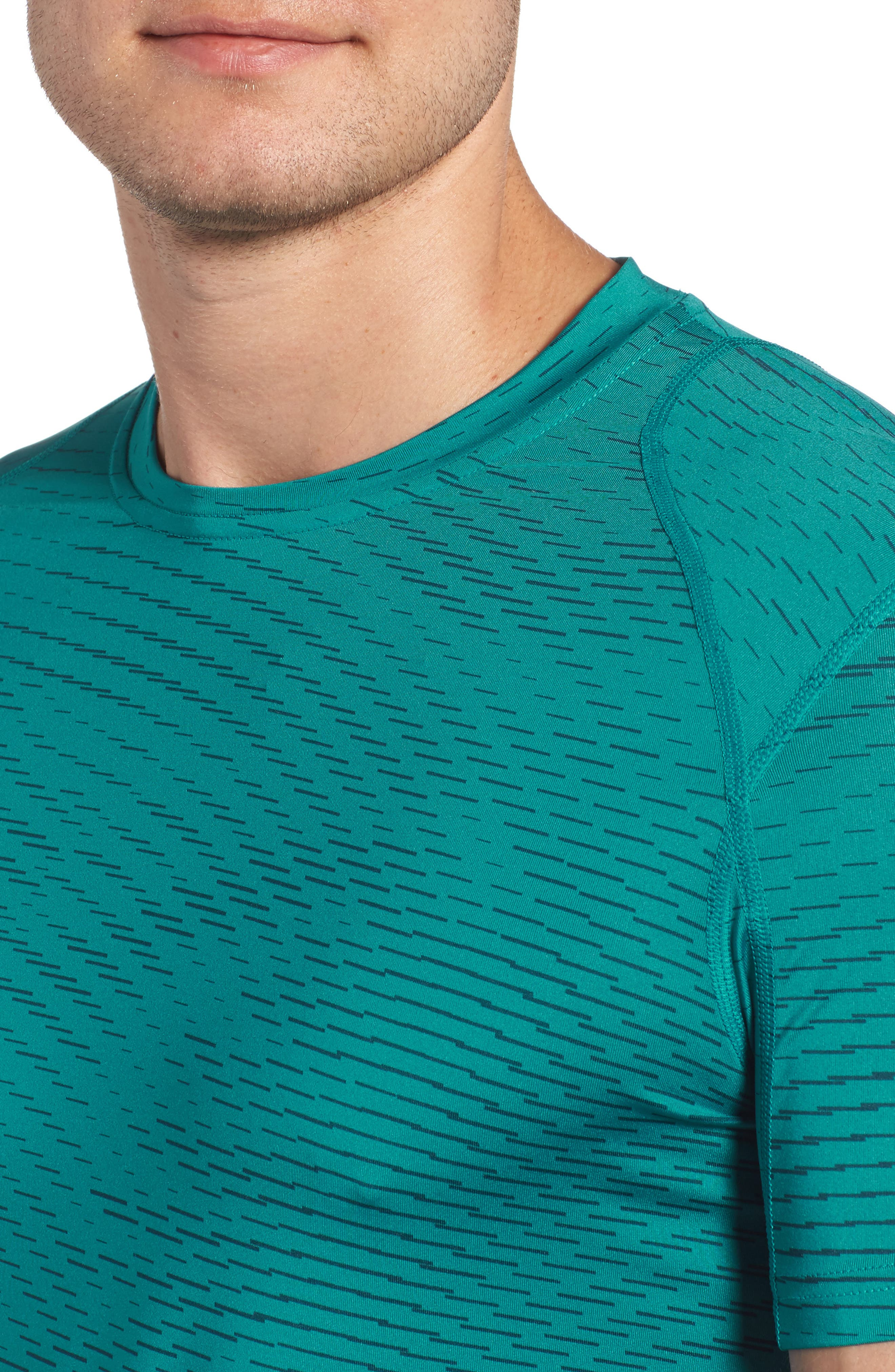 Fitted Athletic T-Shirt,                             Alternate thumbnail 12, color,