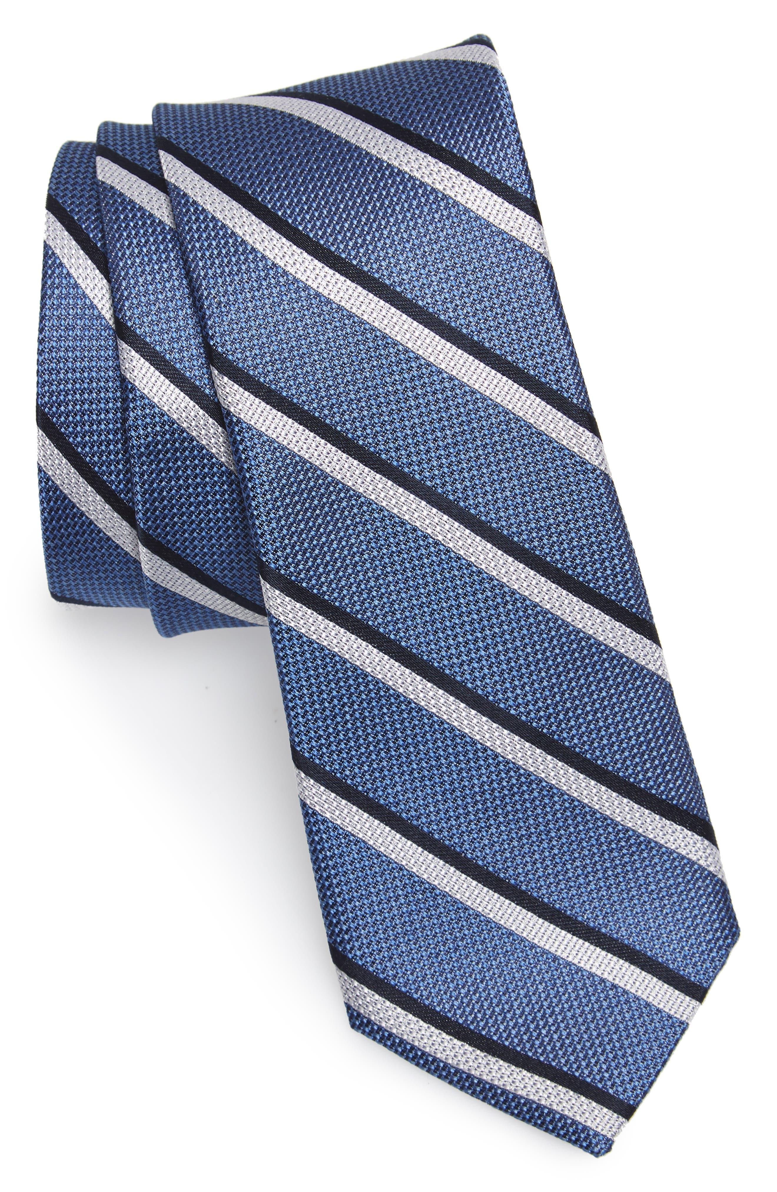 Koehler Stripe Silk Skinny Tie,                             Main thumbnail 1, color,                             400