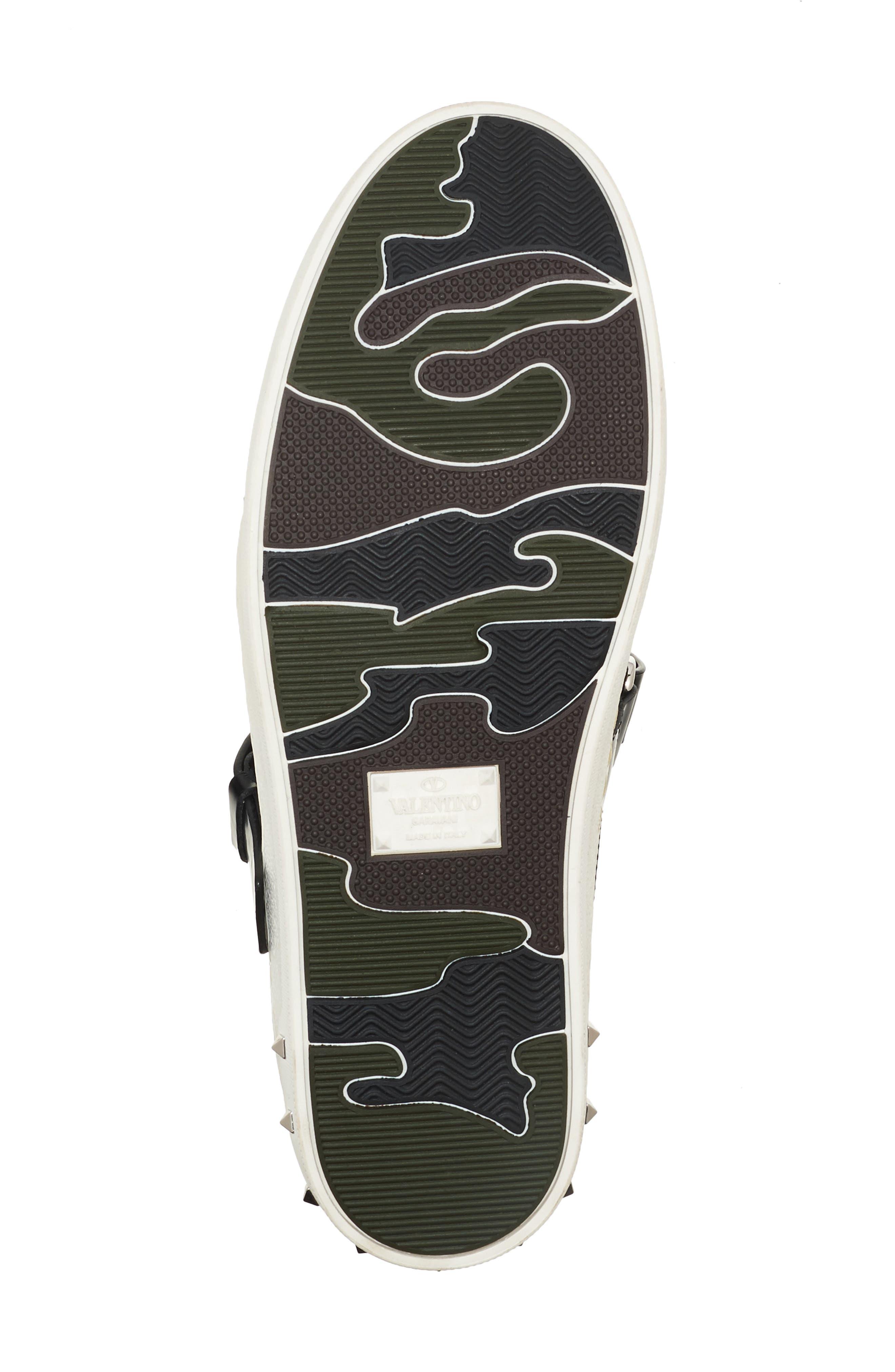 Rockstud Strappy Sneaker,                             Alternate thumbnail 5, color,                             001