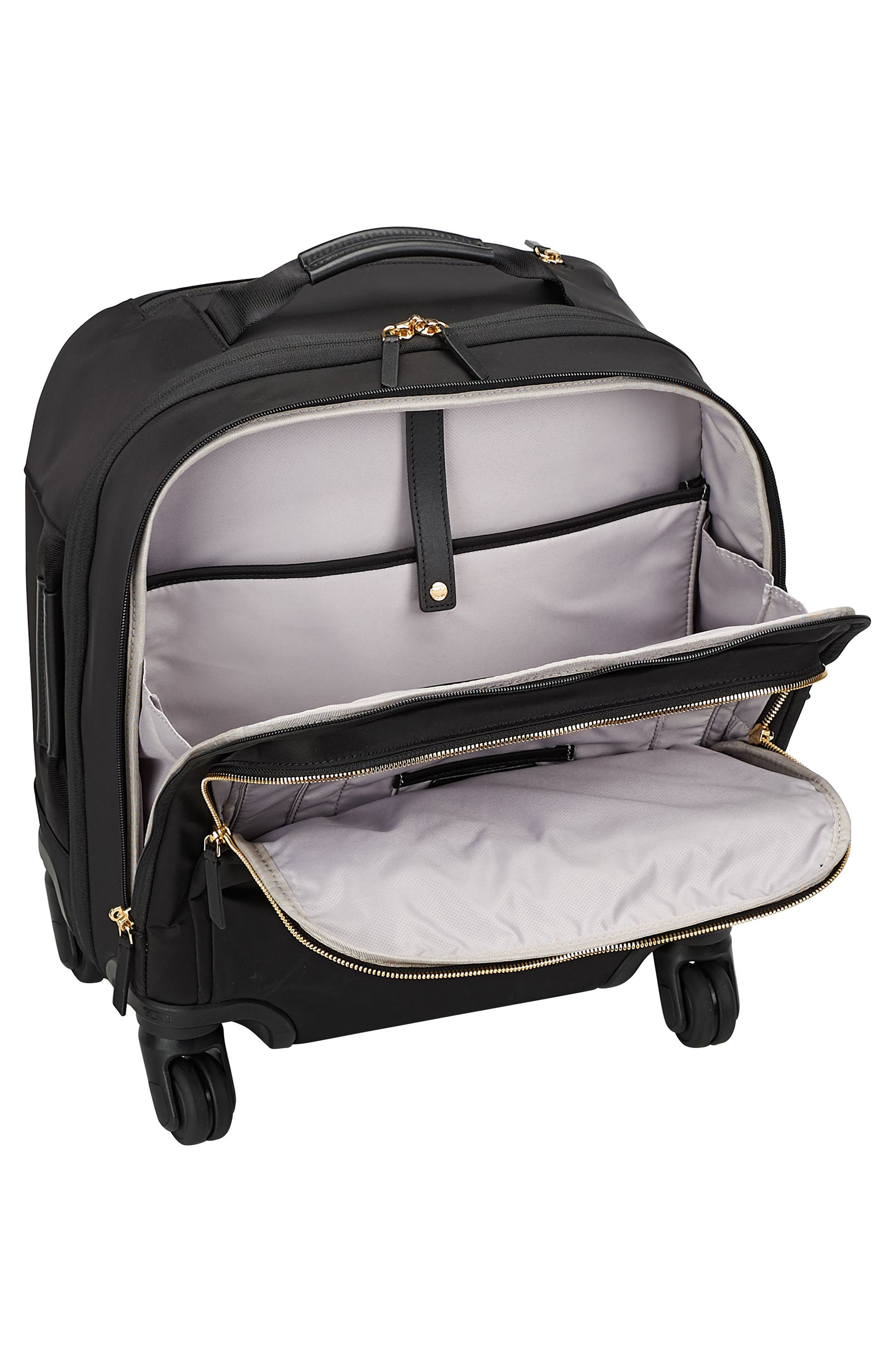 TUMI,                             Voyageur Osona 16-Inch Compact Carry-On,                             Alternate thumbnail 4, color,                             BLACK