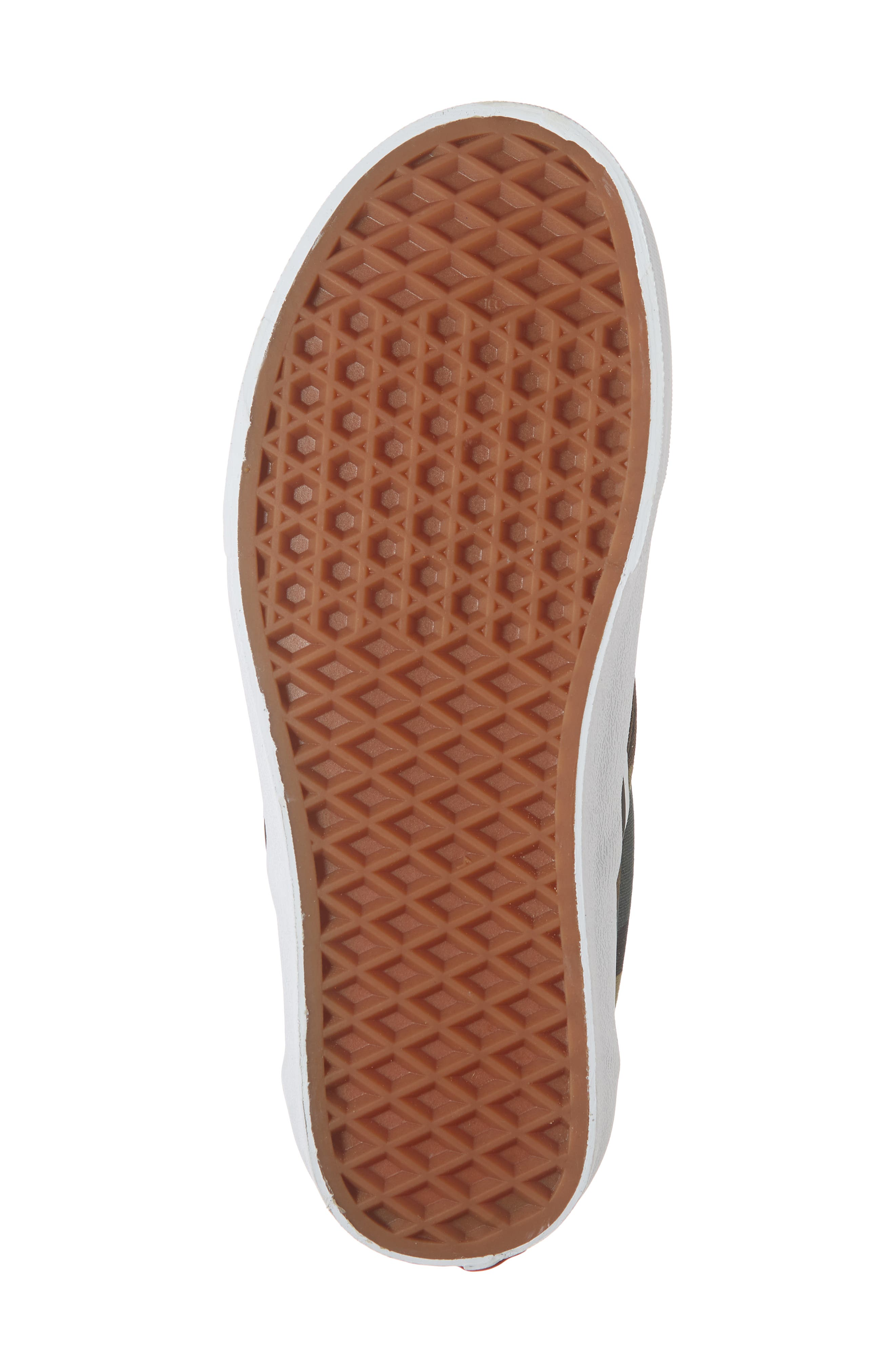 Classic Slip-On Sneaker,                             Alternate thumbnail 6, color,                             BLACK / WOODLAND