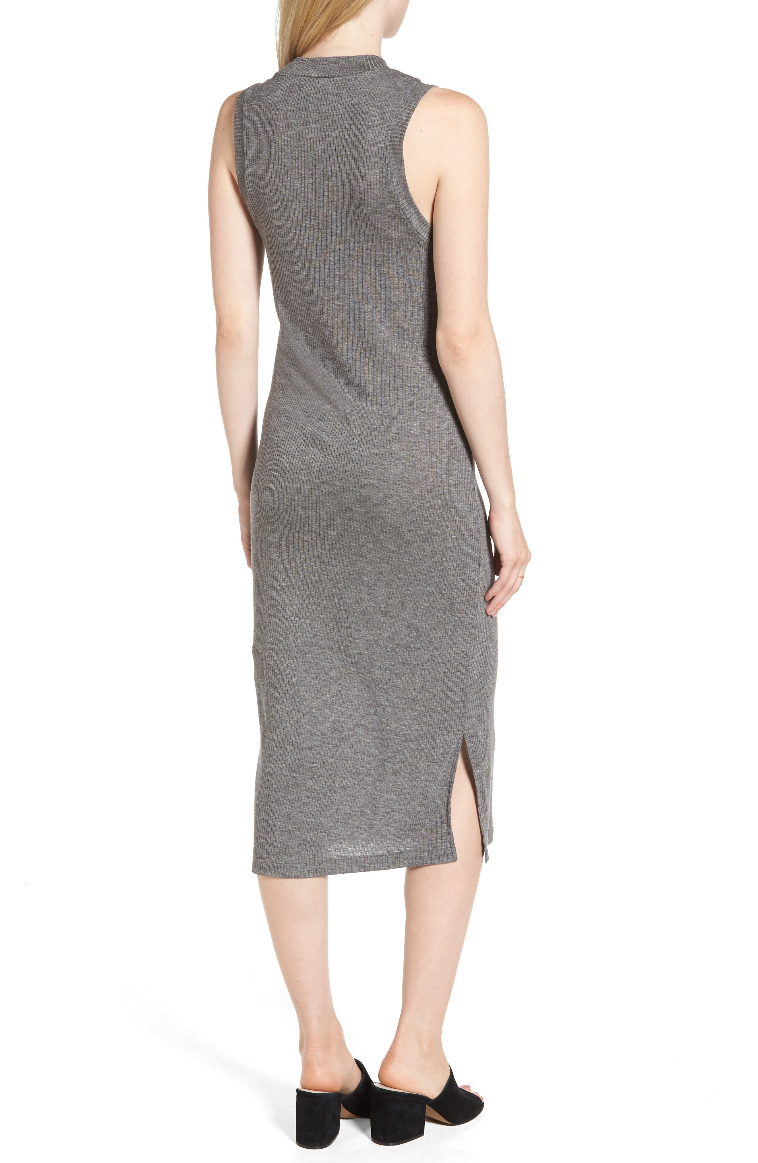 Mock Neck Midi Dress,                             Alternate thumbnail 2, color,                             021