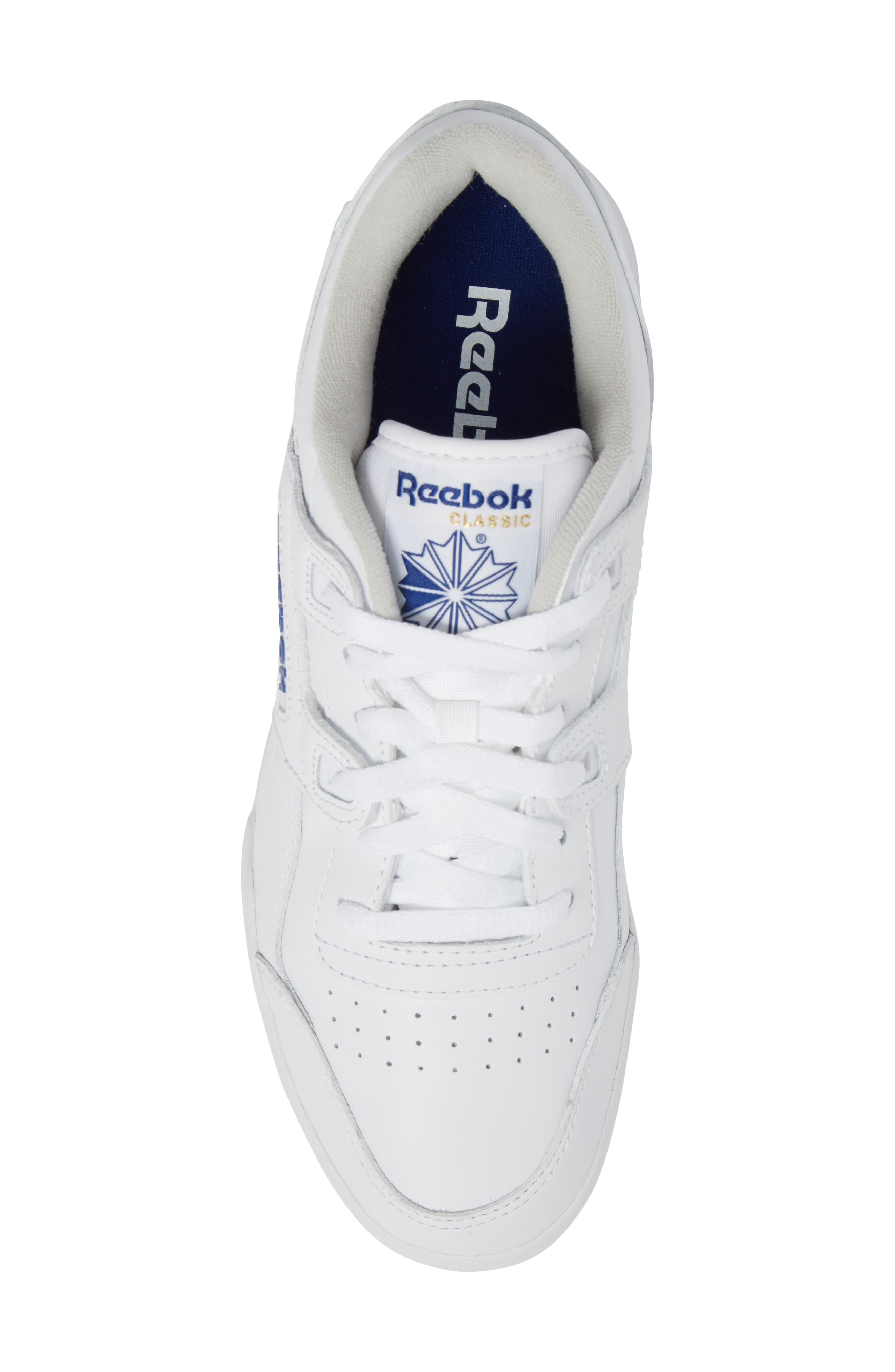 Workout Plus Sneaker,                             Alternate thumbnail 5, color,                             WHITE/ ROYAL
