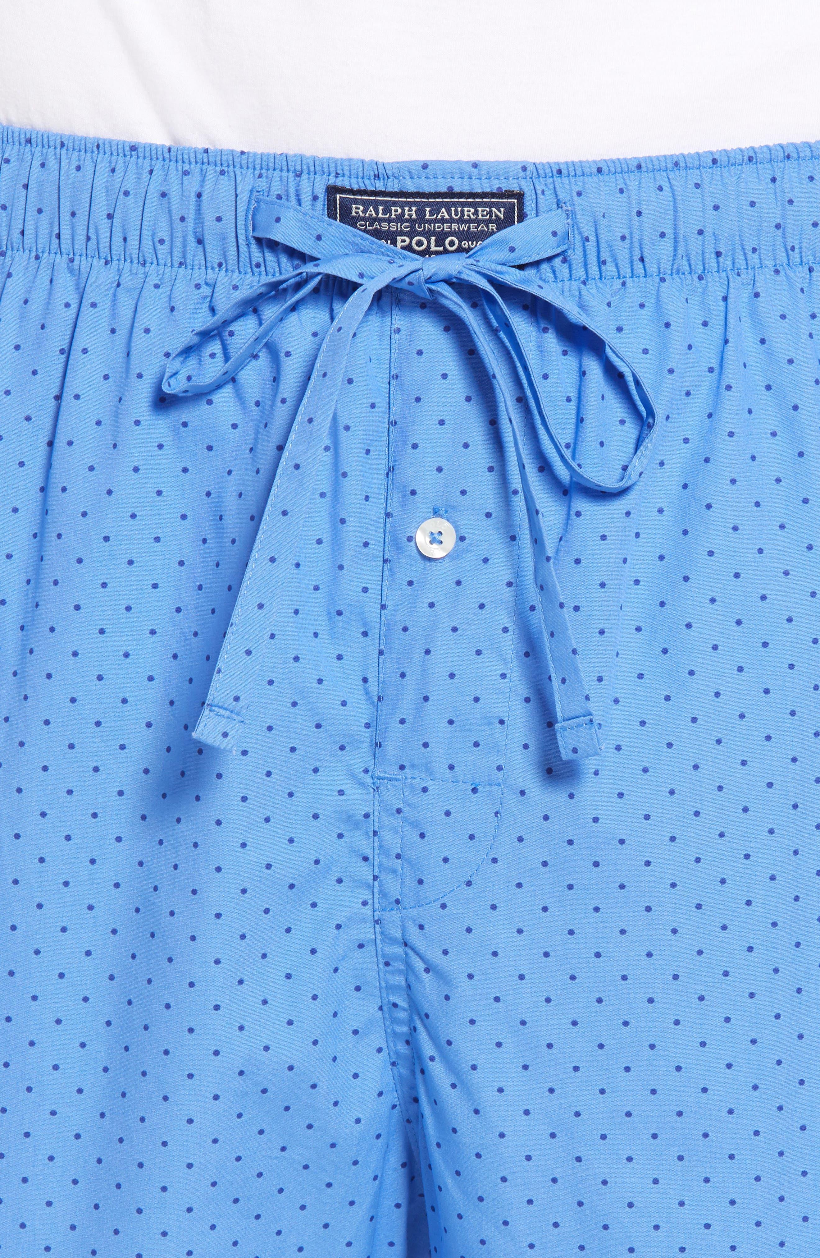 Dot Cotton Pajama Pants,                             Alternate thumbnail 4, color,                             451