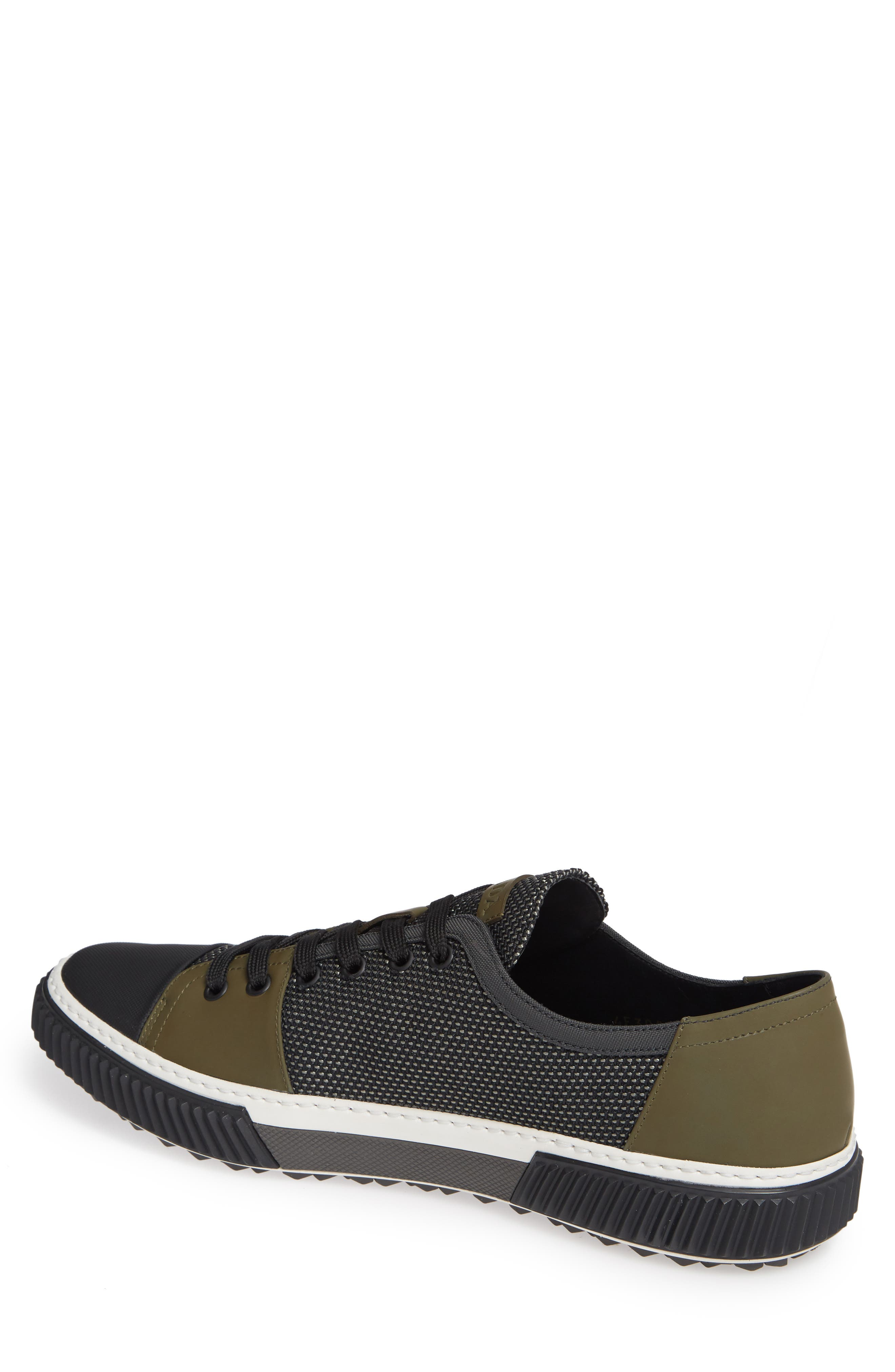 PRADA,                             Linea Rossa Sneaker,                             Alternate thumbnail 2, color,                             GREY/ BLACK