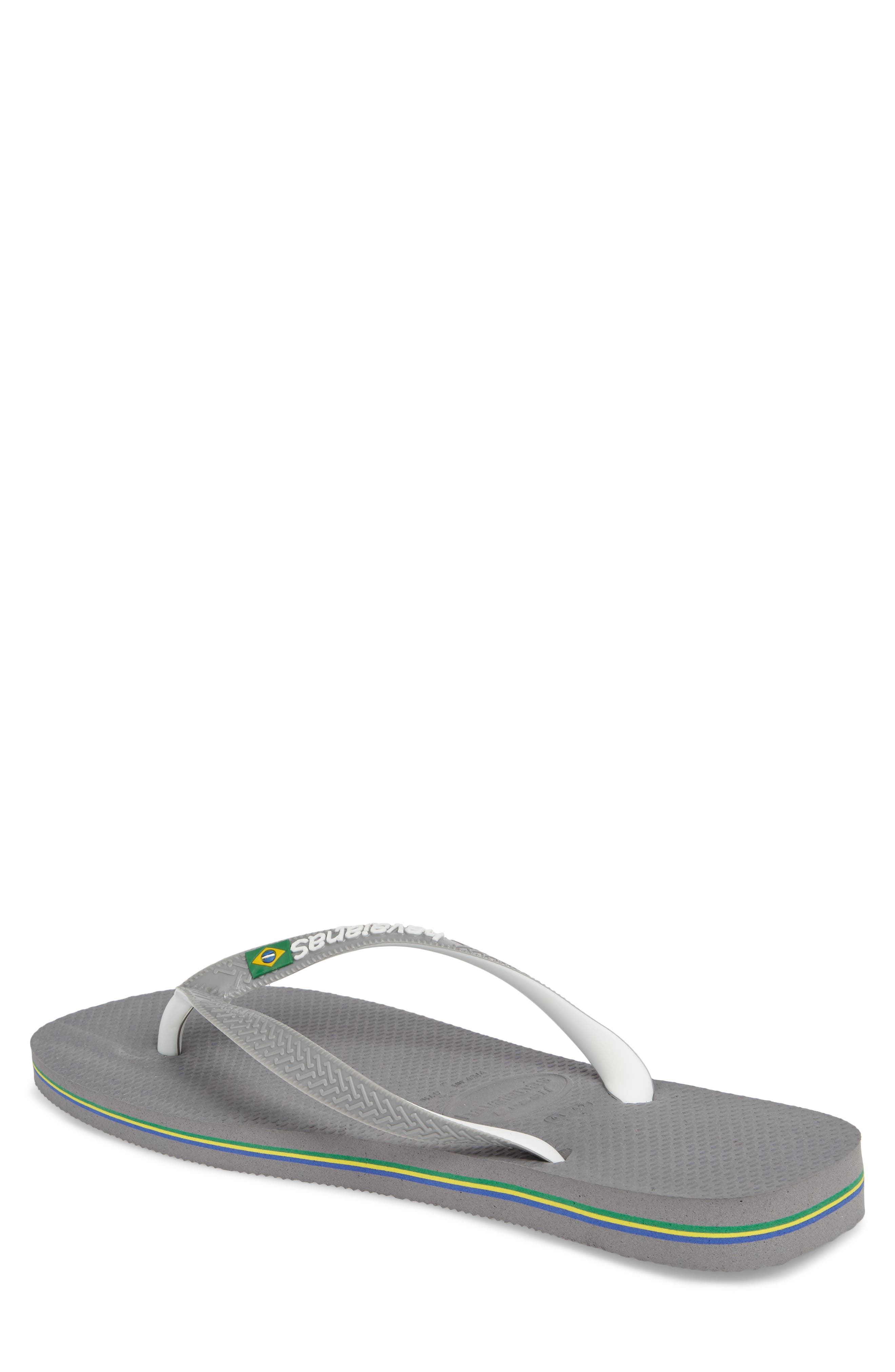 Brazil Mix Flip Flop,                             Alternate thumbnail 3, color,                             GREY