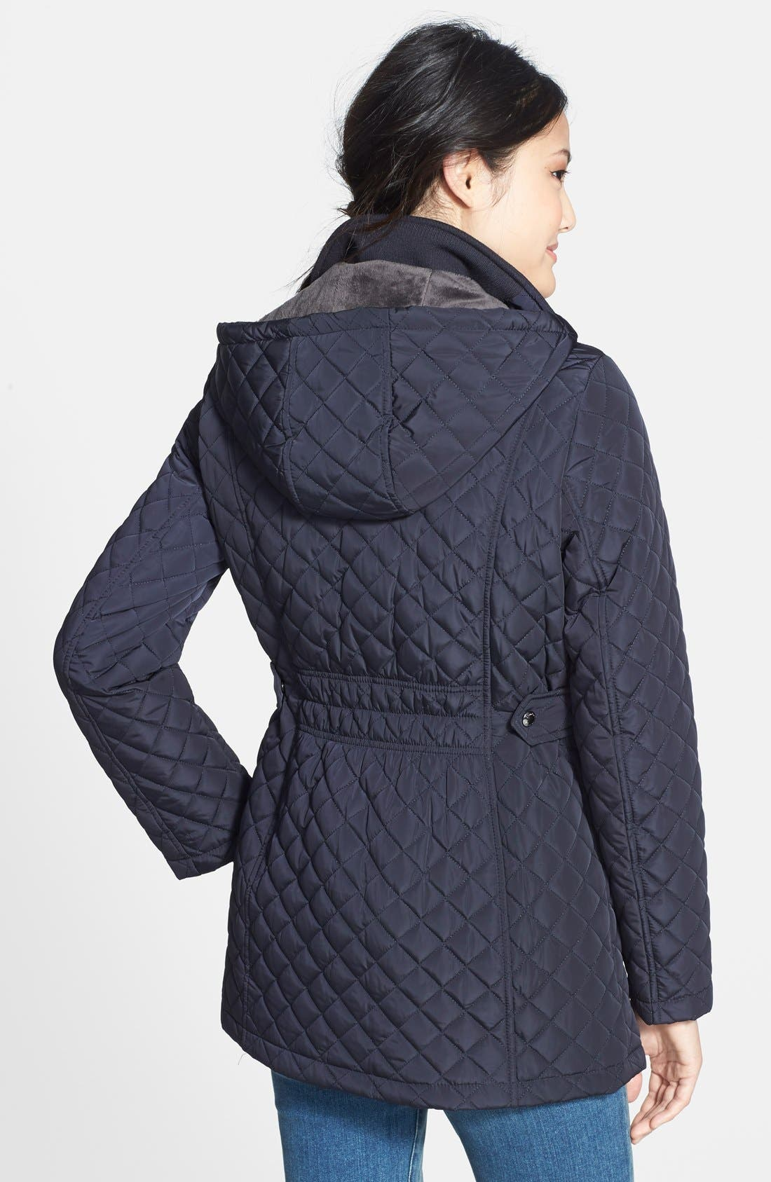 Hooded Quilted Jacket,                             Alternate thumbnail 13, color,