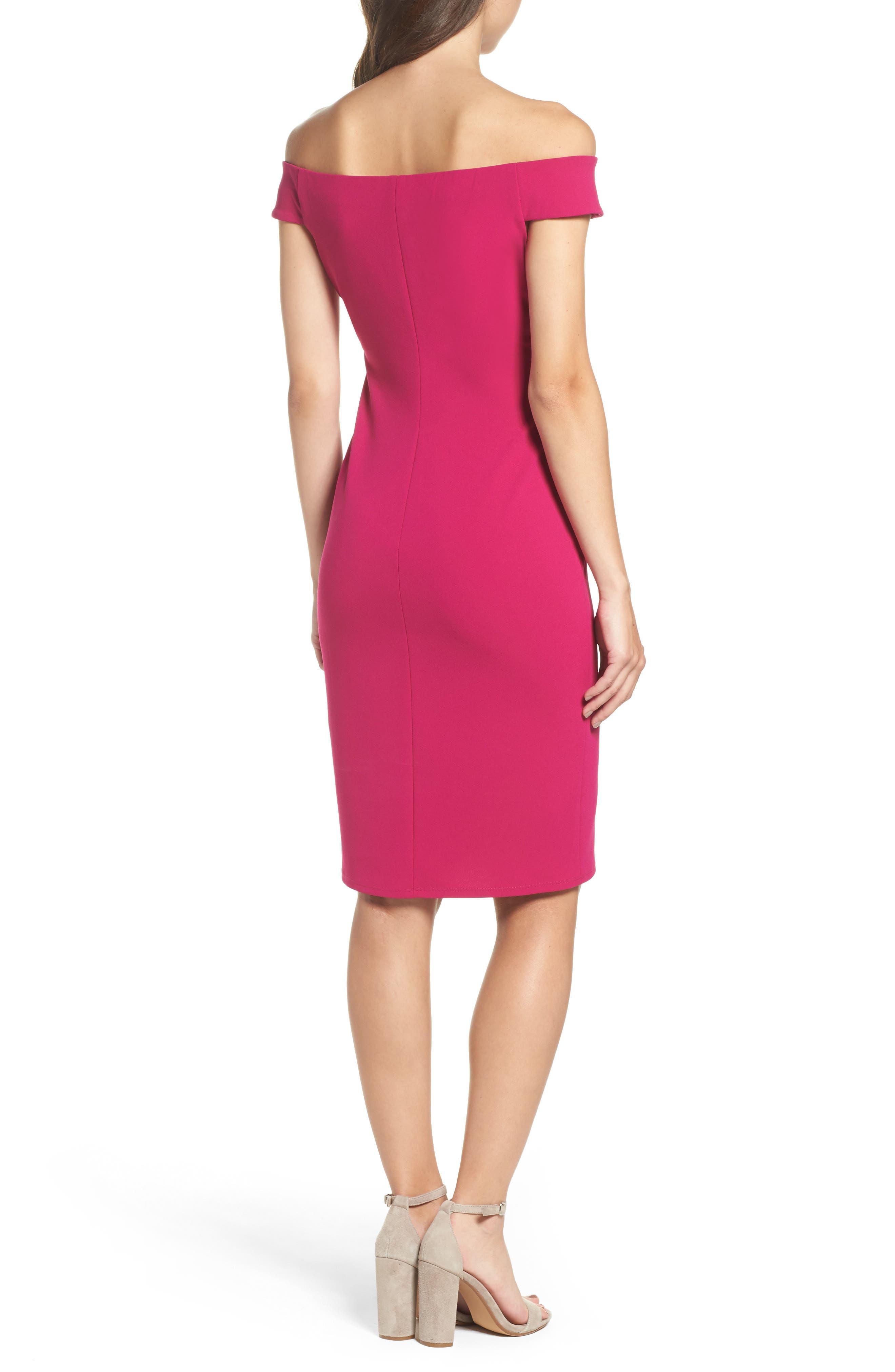Off the Shoulder Sheath Dress,                             Alternate thumbnail 7, color,