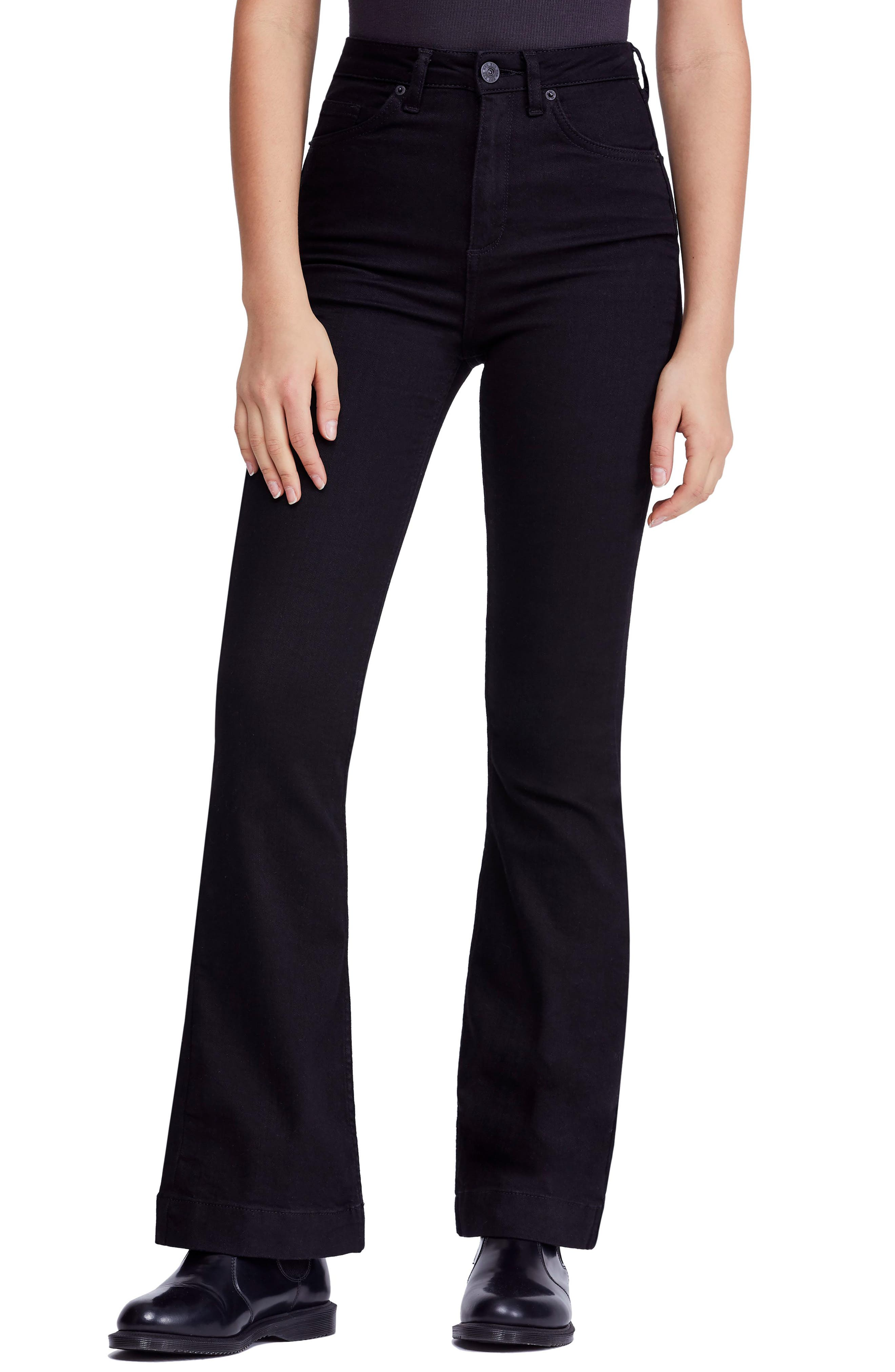 Vintage High Waisted Trousers, Sailor Pants, Jeans Womens Bdg Urban Outfitters High Waist Flare Jeans $41.40 AT vintagedancer.com