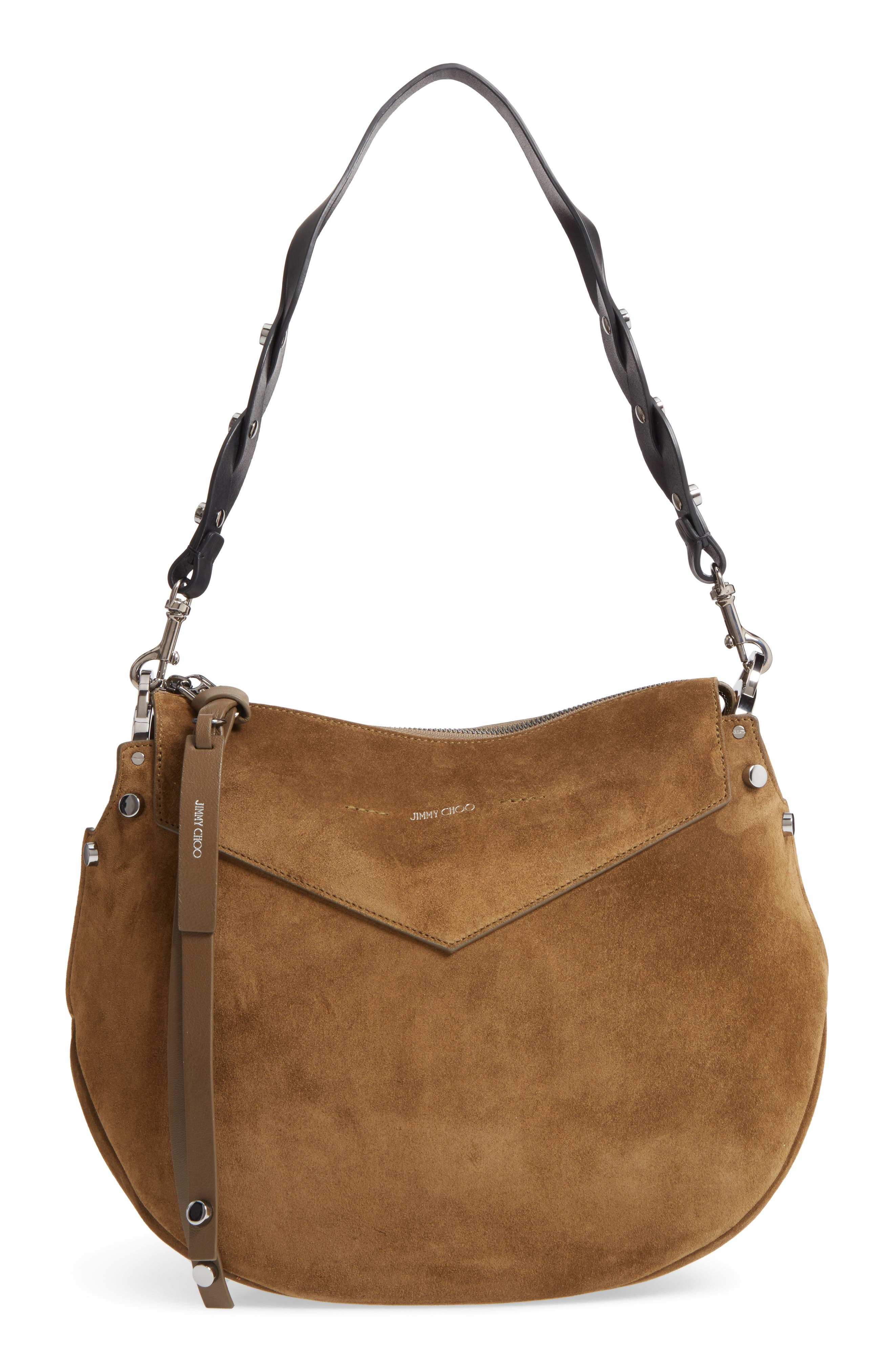 Artie Suede Hobo Bag,                             Main thumbnail 1, color,