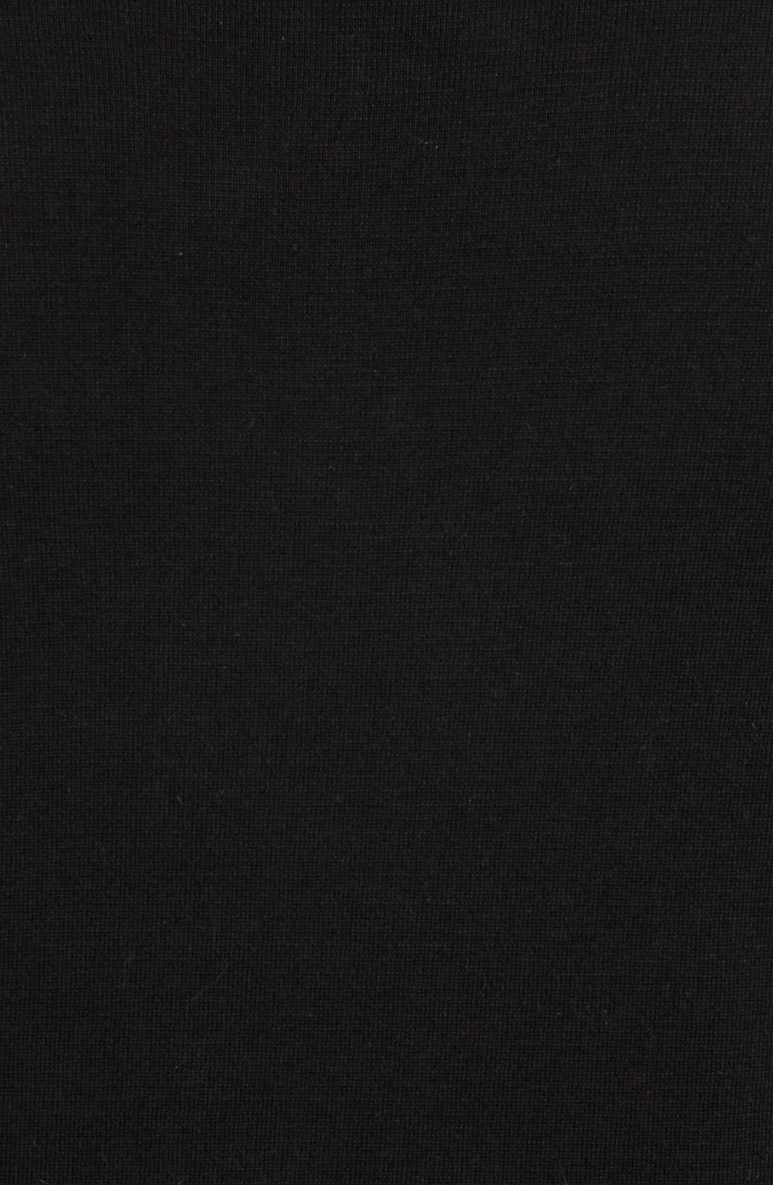 PETER MILLAR,                             Crown Quarter Zip Sweater,                             Alternate thumbnail 5, color,                             BLACK