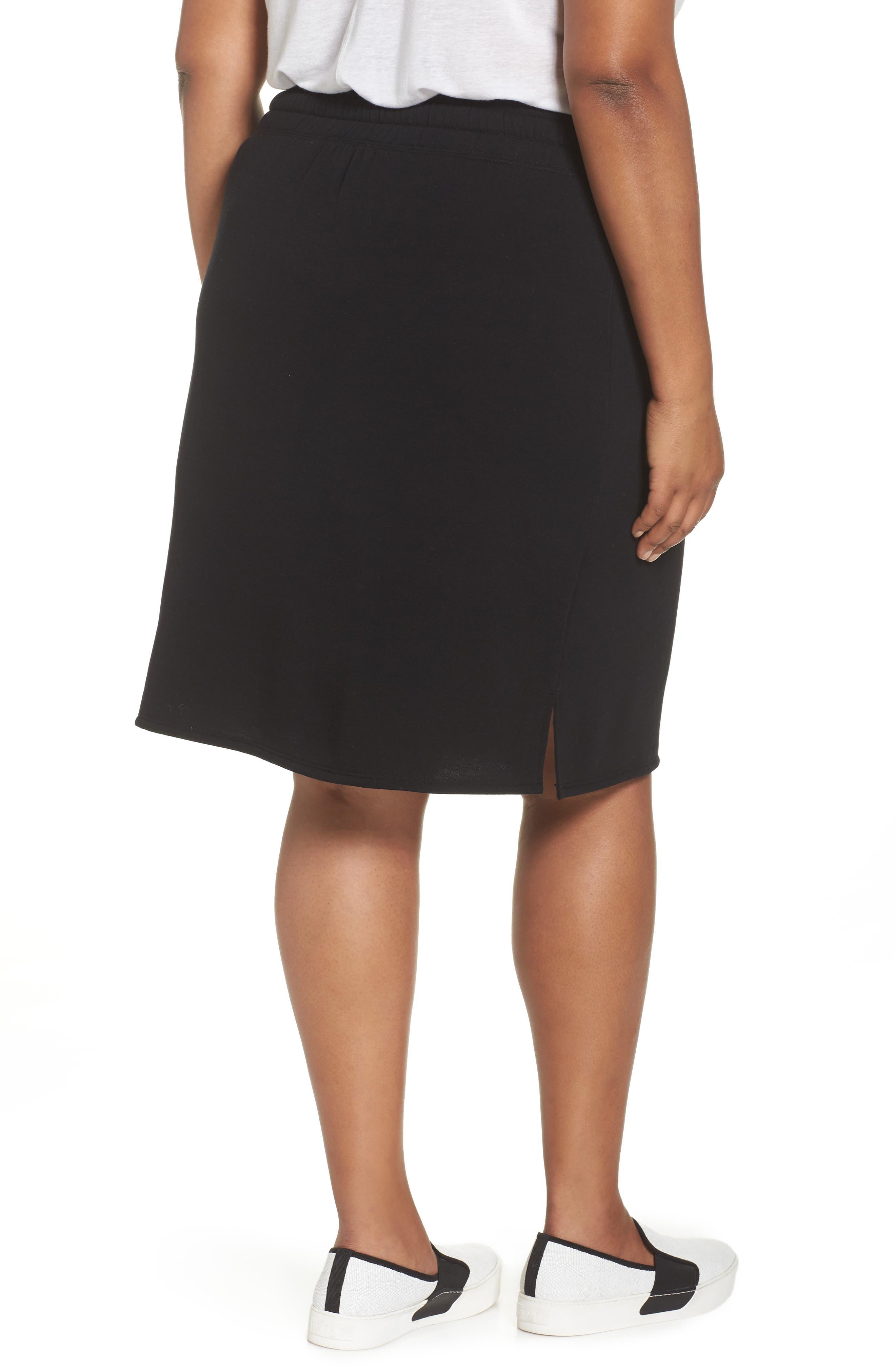 Off-Duty Tie Waist Miniskirt,                             Alternate thumbnail 2, color,                             001