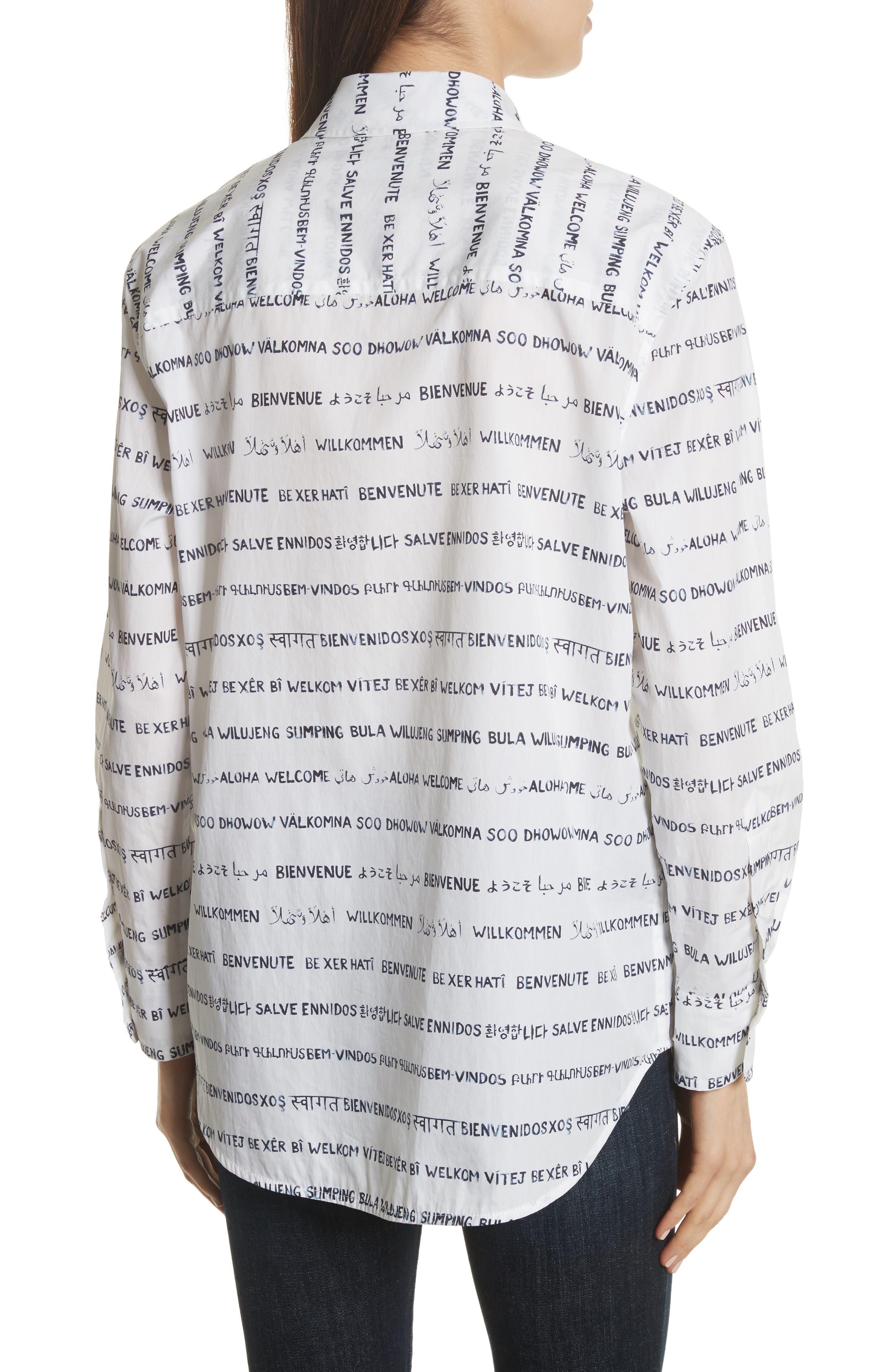 Kenton Graphic Stripe Cotton Shirt,                             Alternate thumbnail 2, color,                             125
