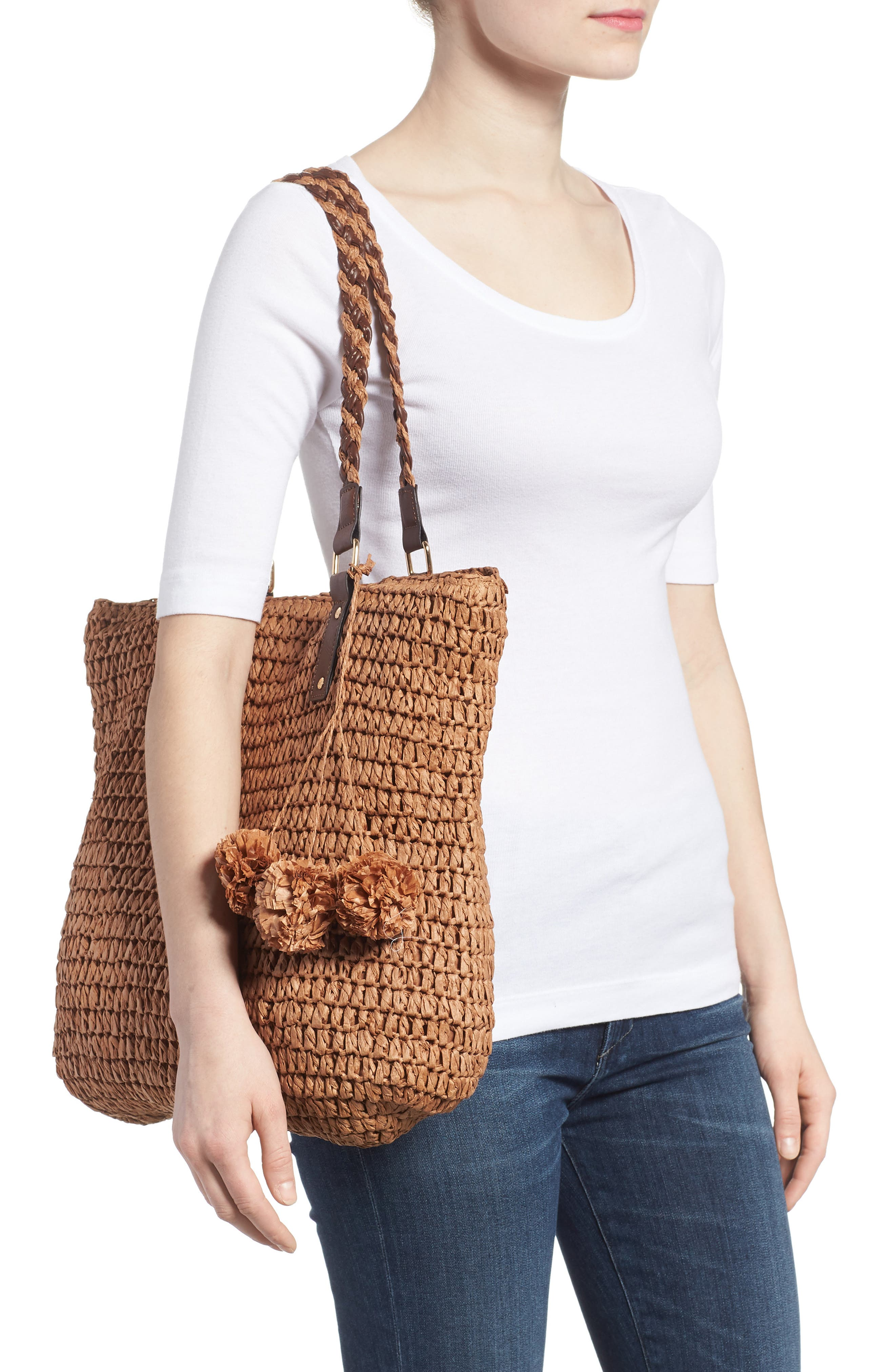 Bahama Mama Straw Tote,                             Alternate thumbnail 2, color,                             207