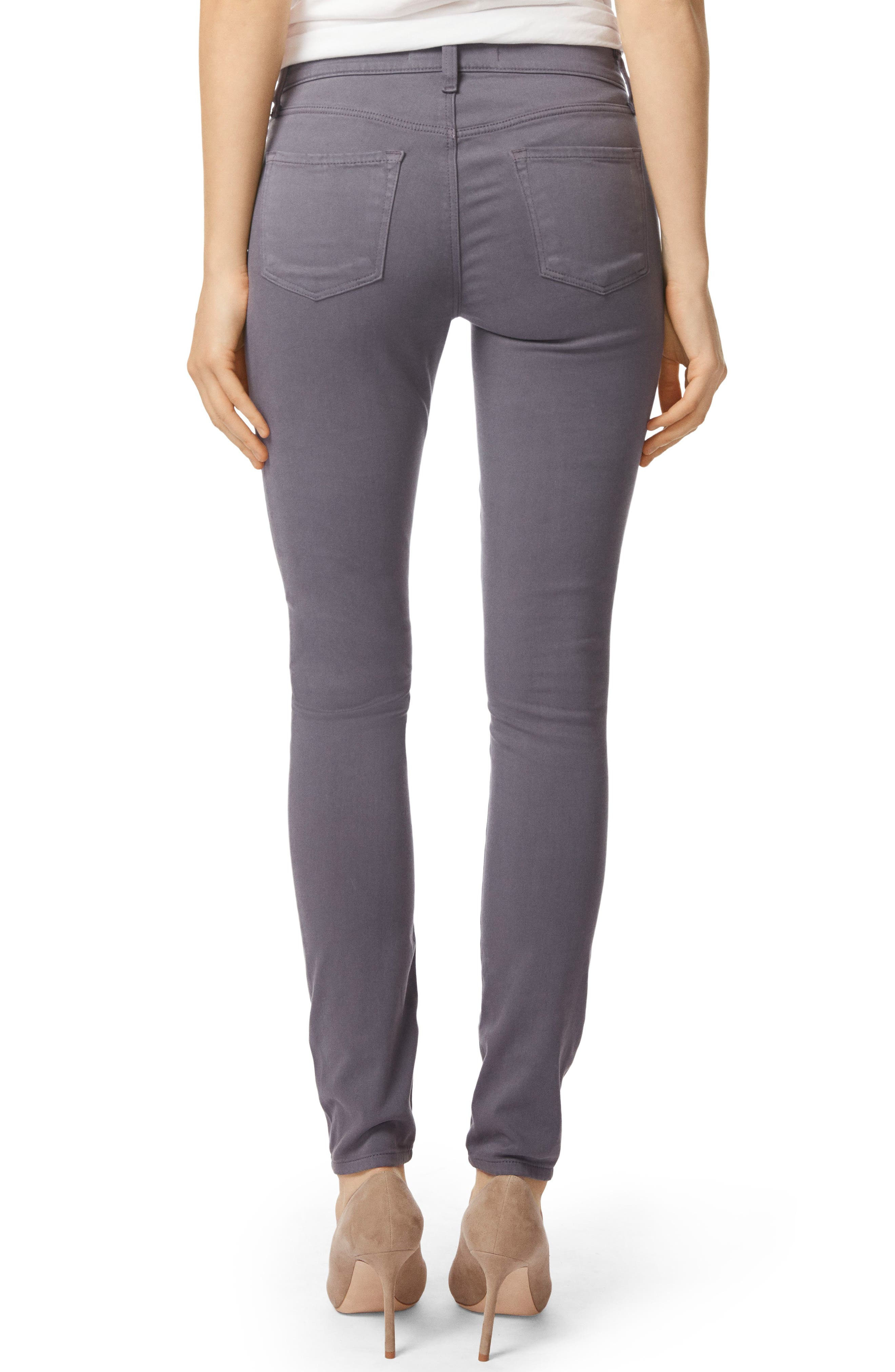 485 Mid Rise Skinny Jeans,                             Alternate thumbnail 2, color,                             VOLCANIC ASH
